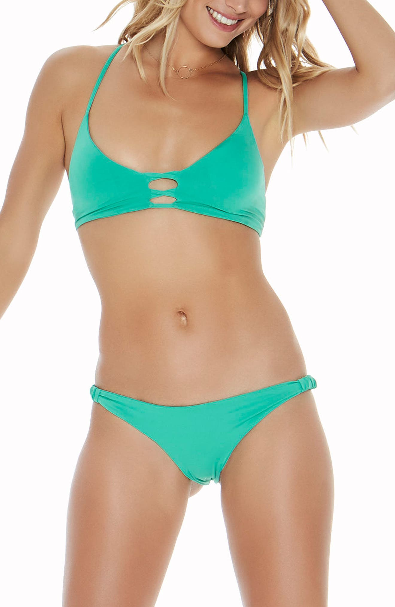 Sundrop Slider Bikini Bottoms,                             Alternate thumbnail 3, color,                             Spearmint