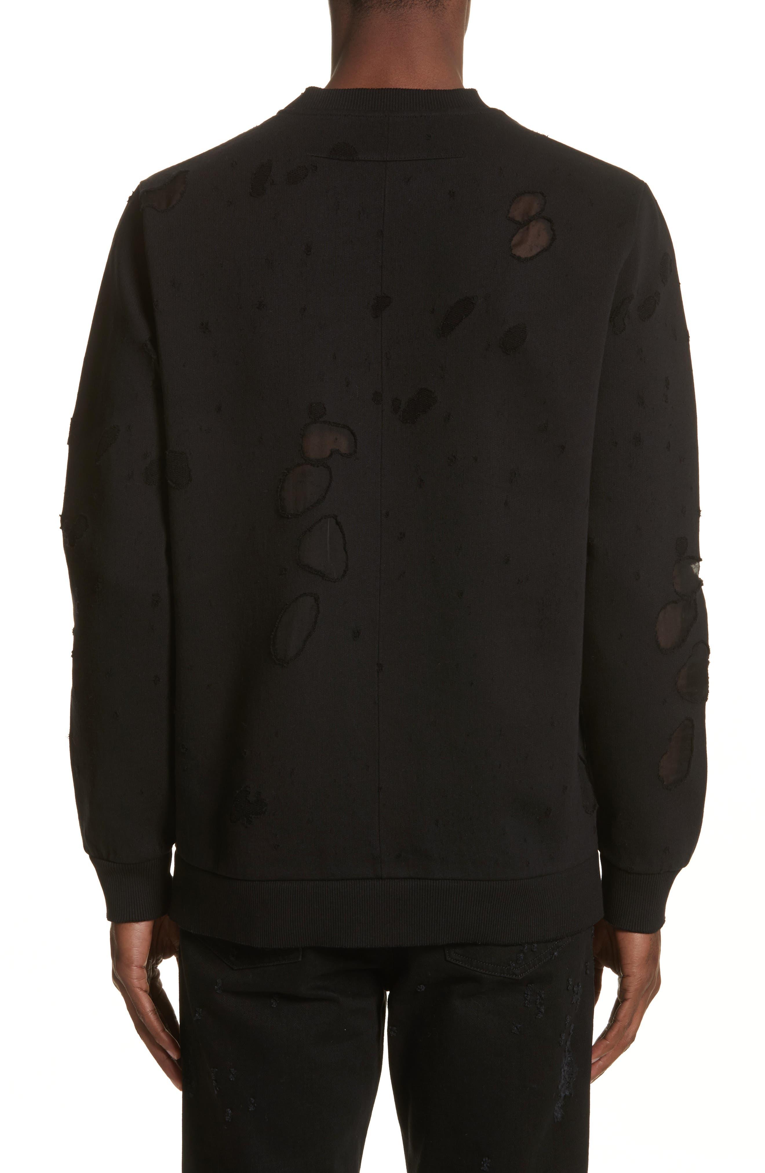 Alternate Image 2  - Givenchy Destroyed Logo Sweatshirt
