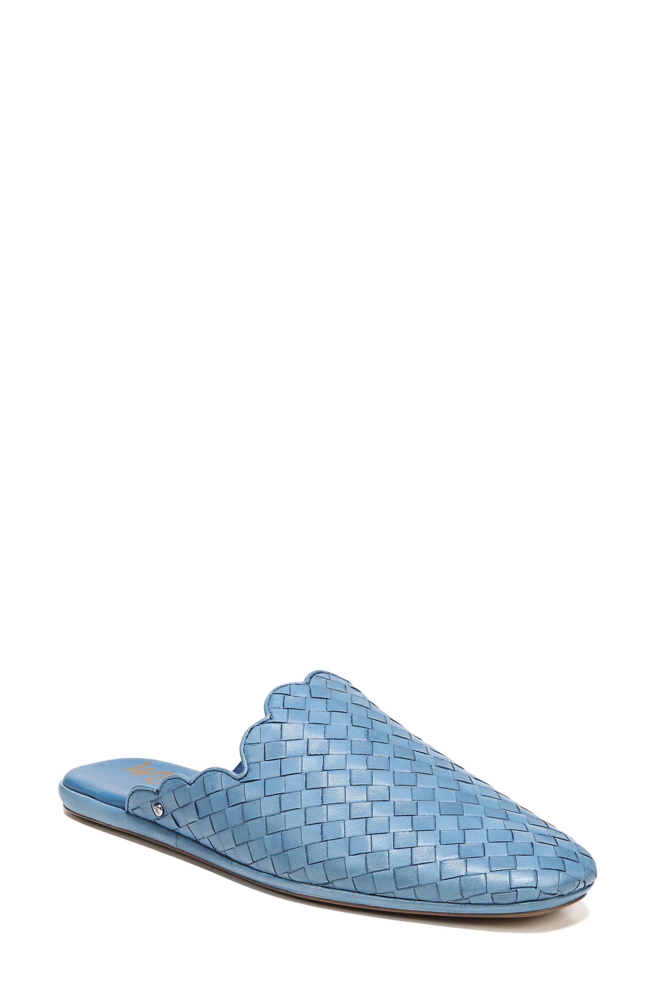 Katy Mule,                             Main thumbnail 1, color,                             Moroccan Blue Woven Leather