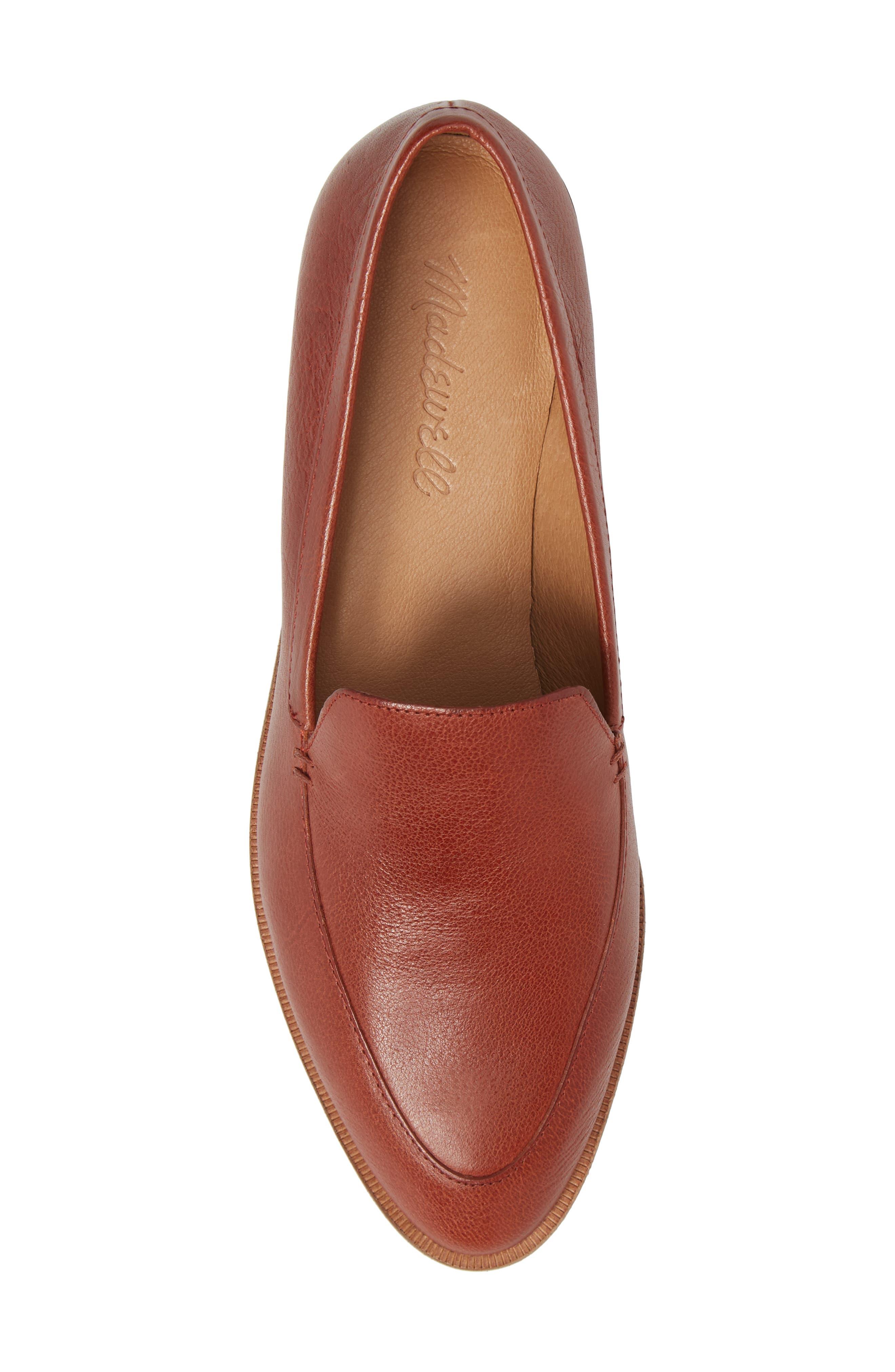 Frances Loafer,                             Alternate thumbnail 5, color,                             Burnished Mahogany Leather
