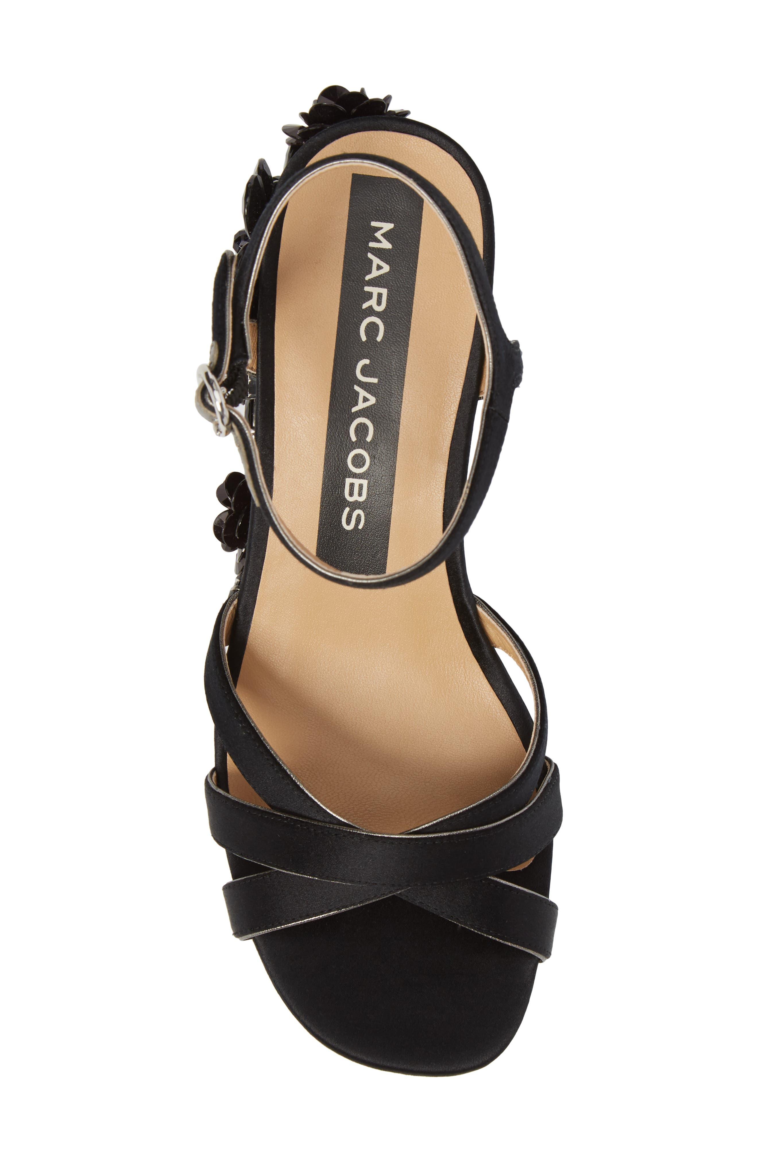 Callie Embellished Platform Sandal,                             Alternate thumbnail 5, color,                             Black