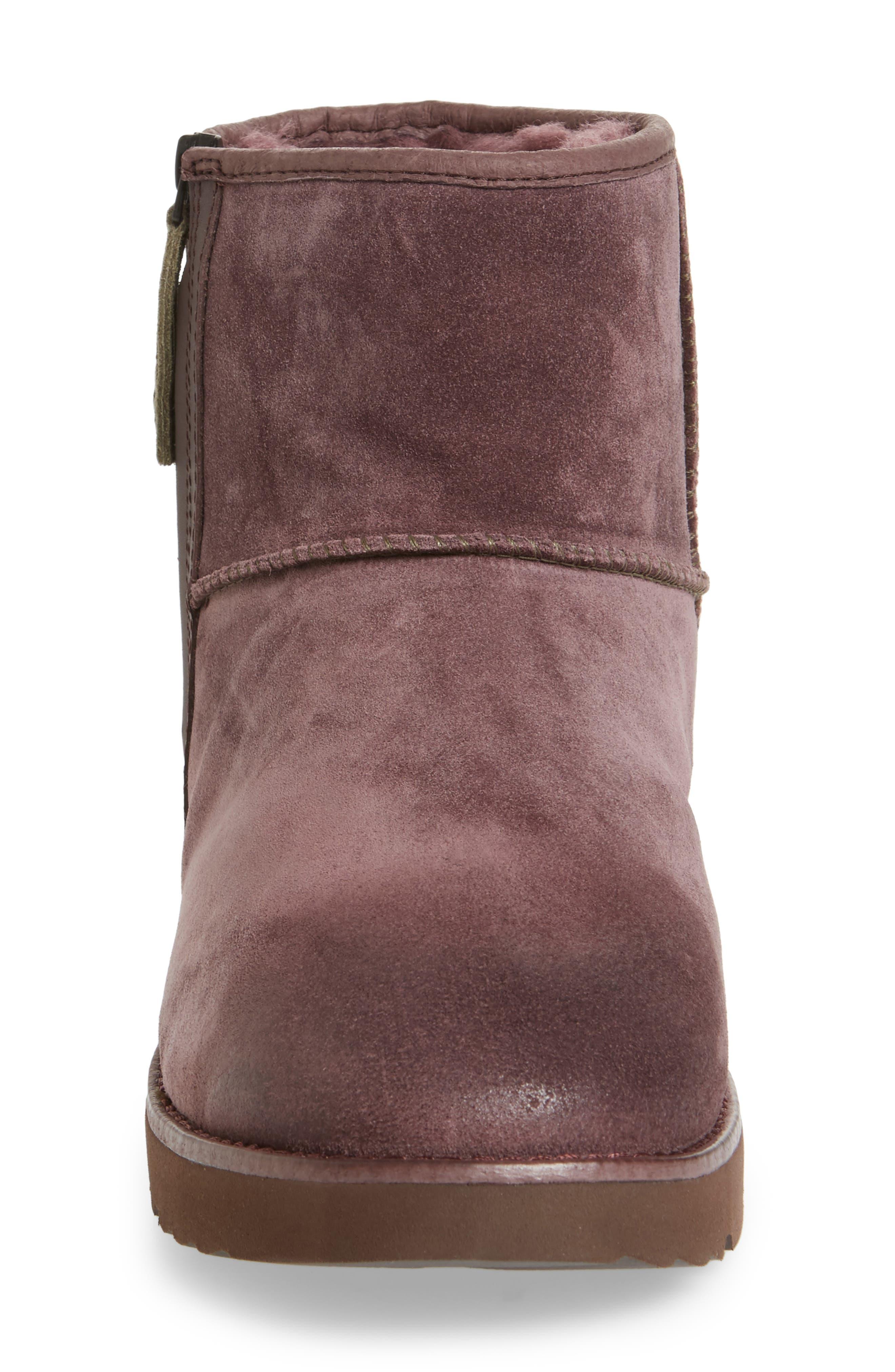 Mini Zip Waterproof Boot,                             Alternate thumbnail 3, color,                             Cordovan