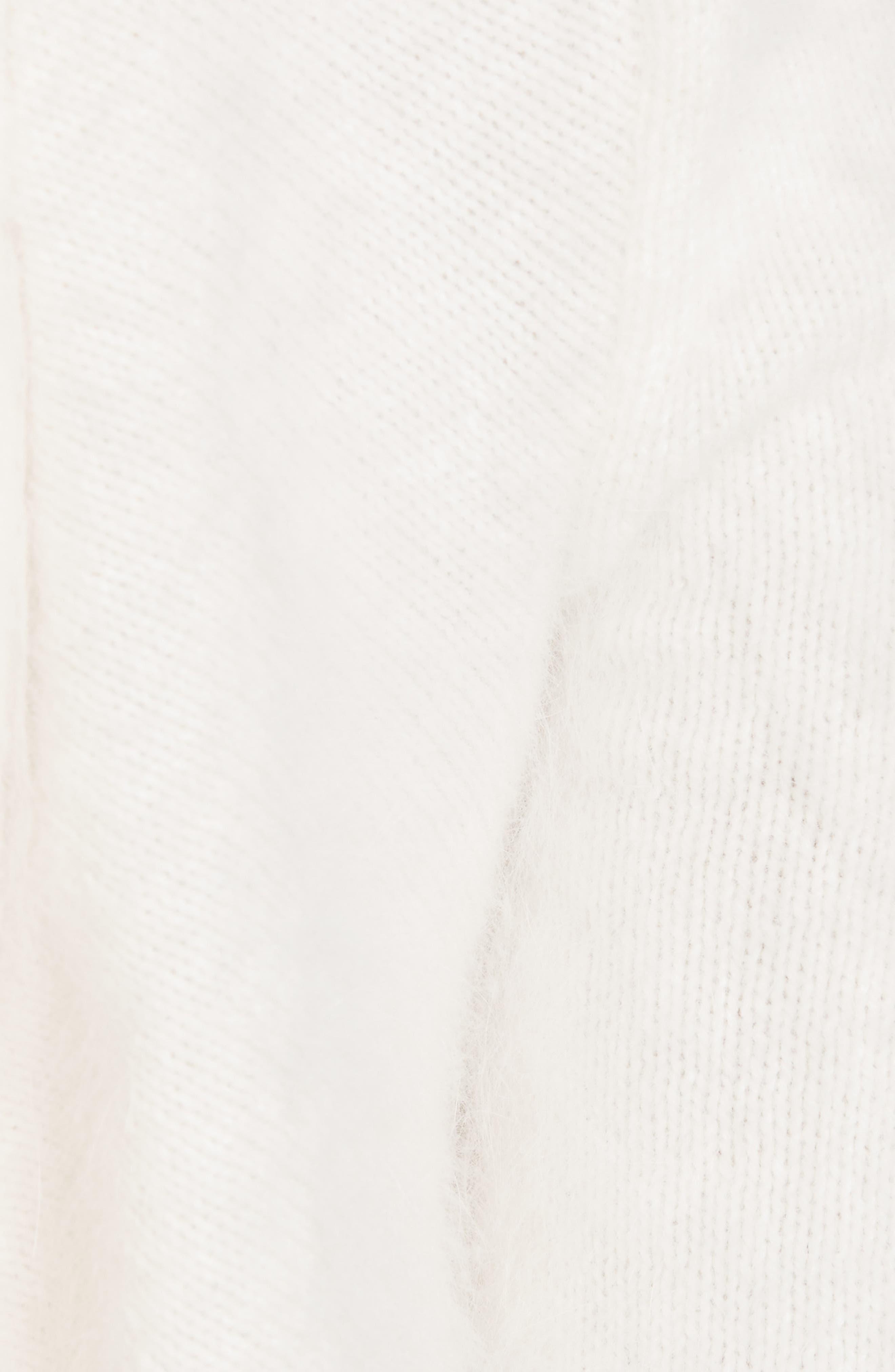 Alternate Image 5  - Brandon Maxwell Drape Back Angora Blend Sweater