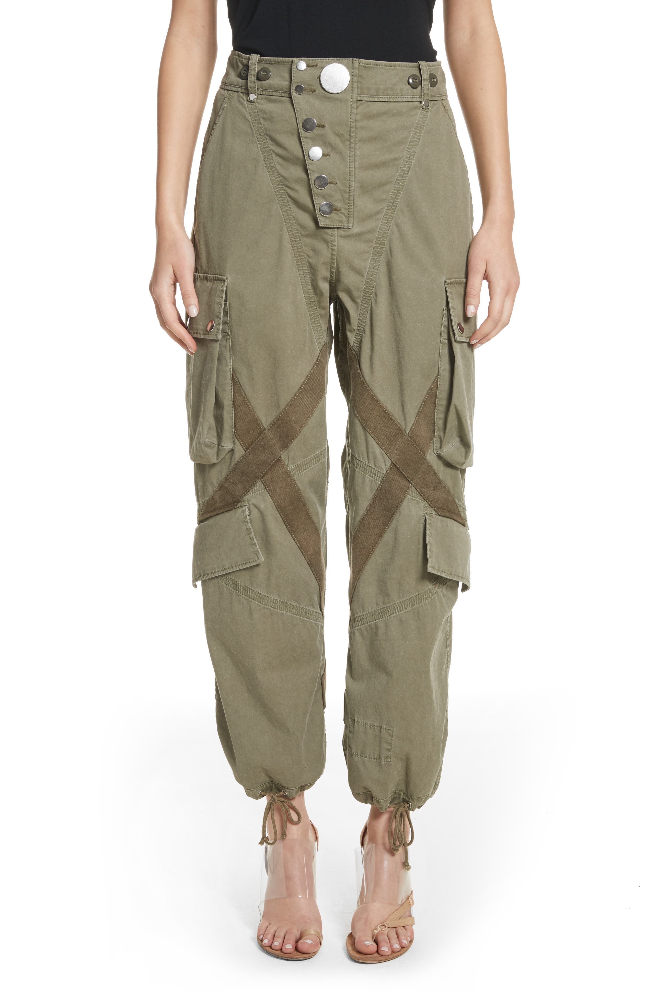 Alexander Wang Tie Cuff Army Trousers