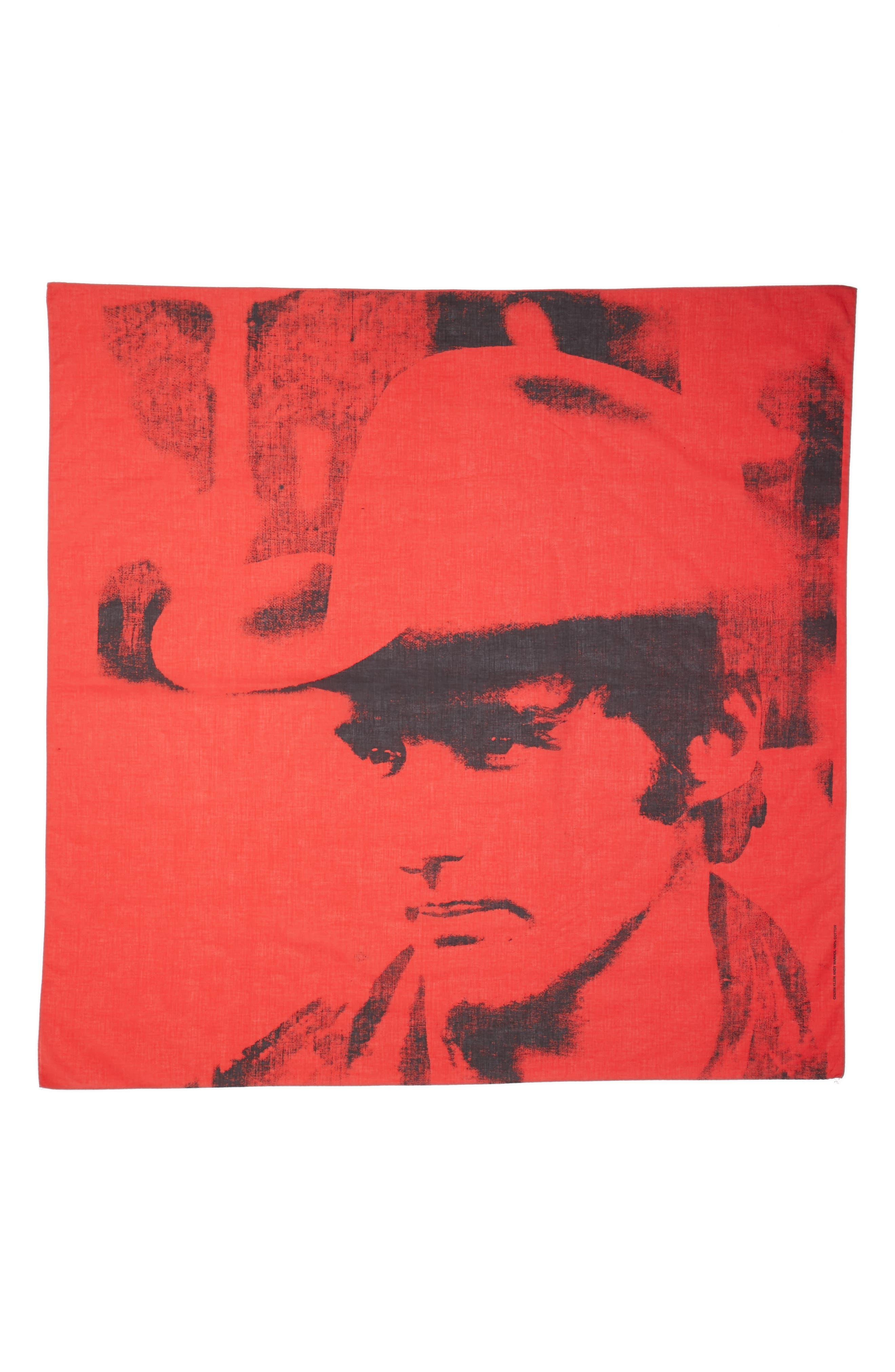 x Andy Warhol Foundation Dennis Hopper Scarf,                             Main thumbnail 1, color,                             Molten Lava