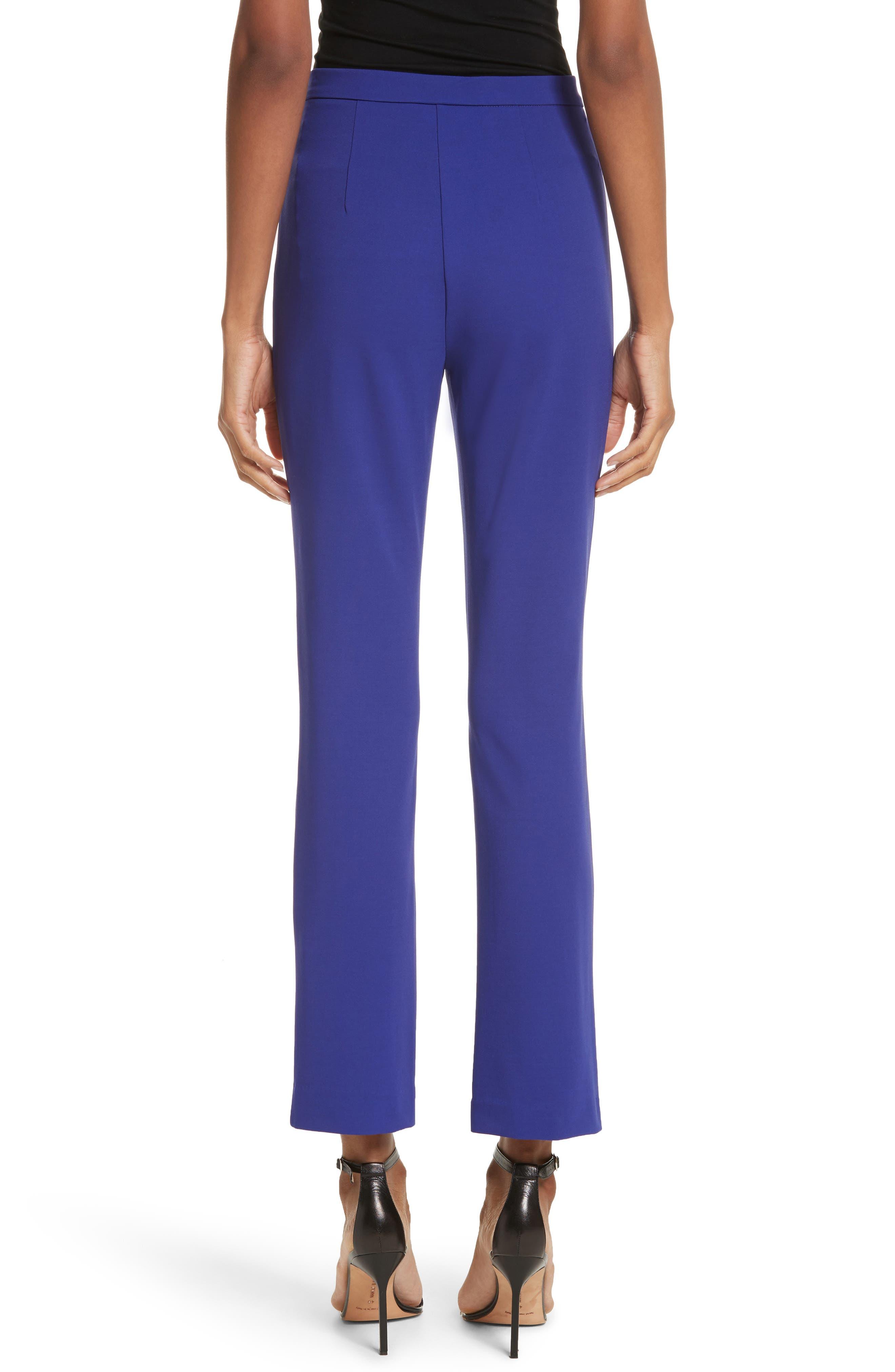 Calerno Crepe Crop Trousers,                             Alternate thumbnail 2, color,                             Violet