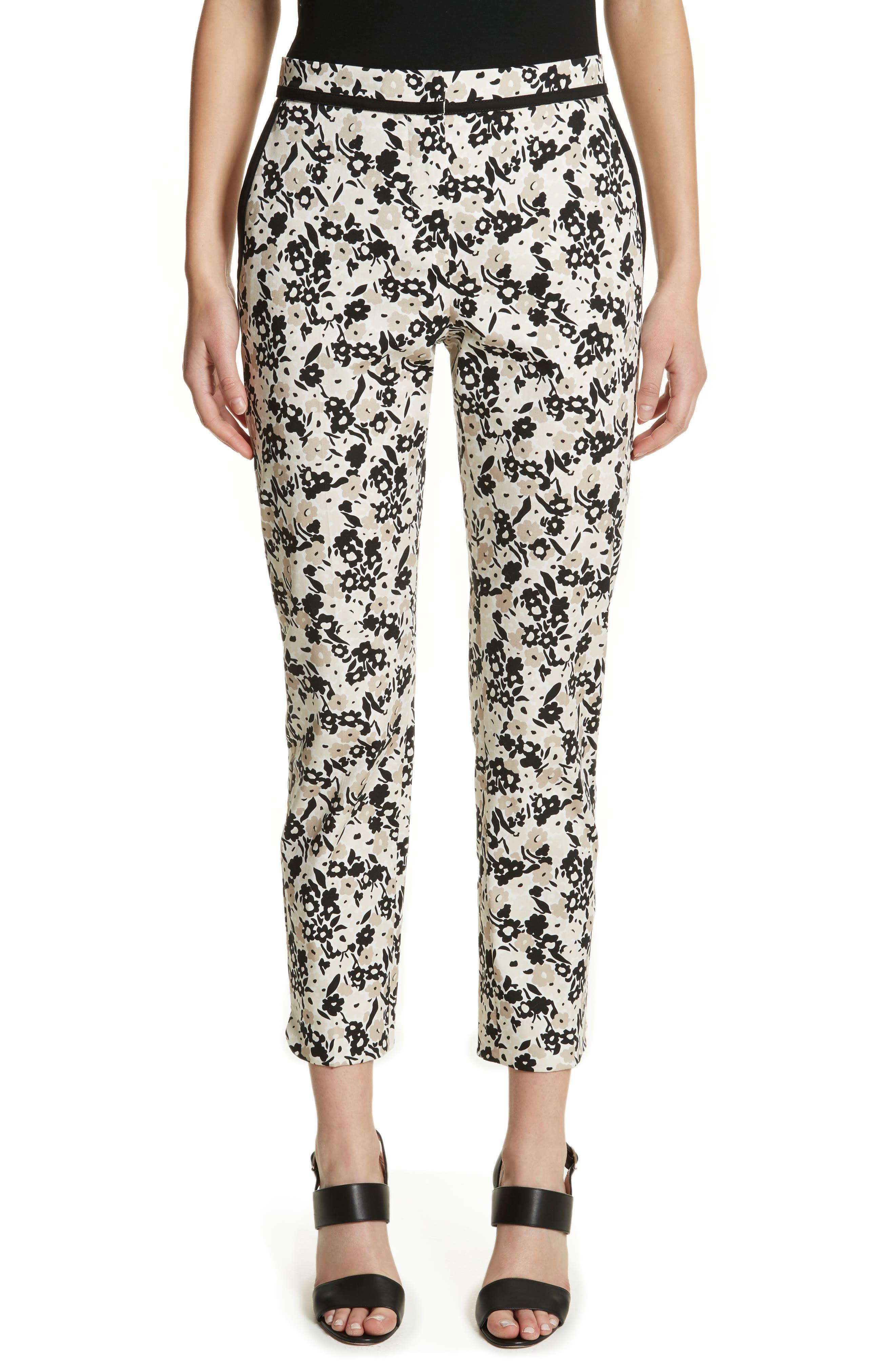 Max Mara Deborah Floral Print Crop Pants