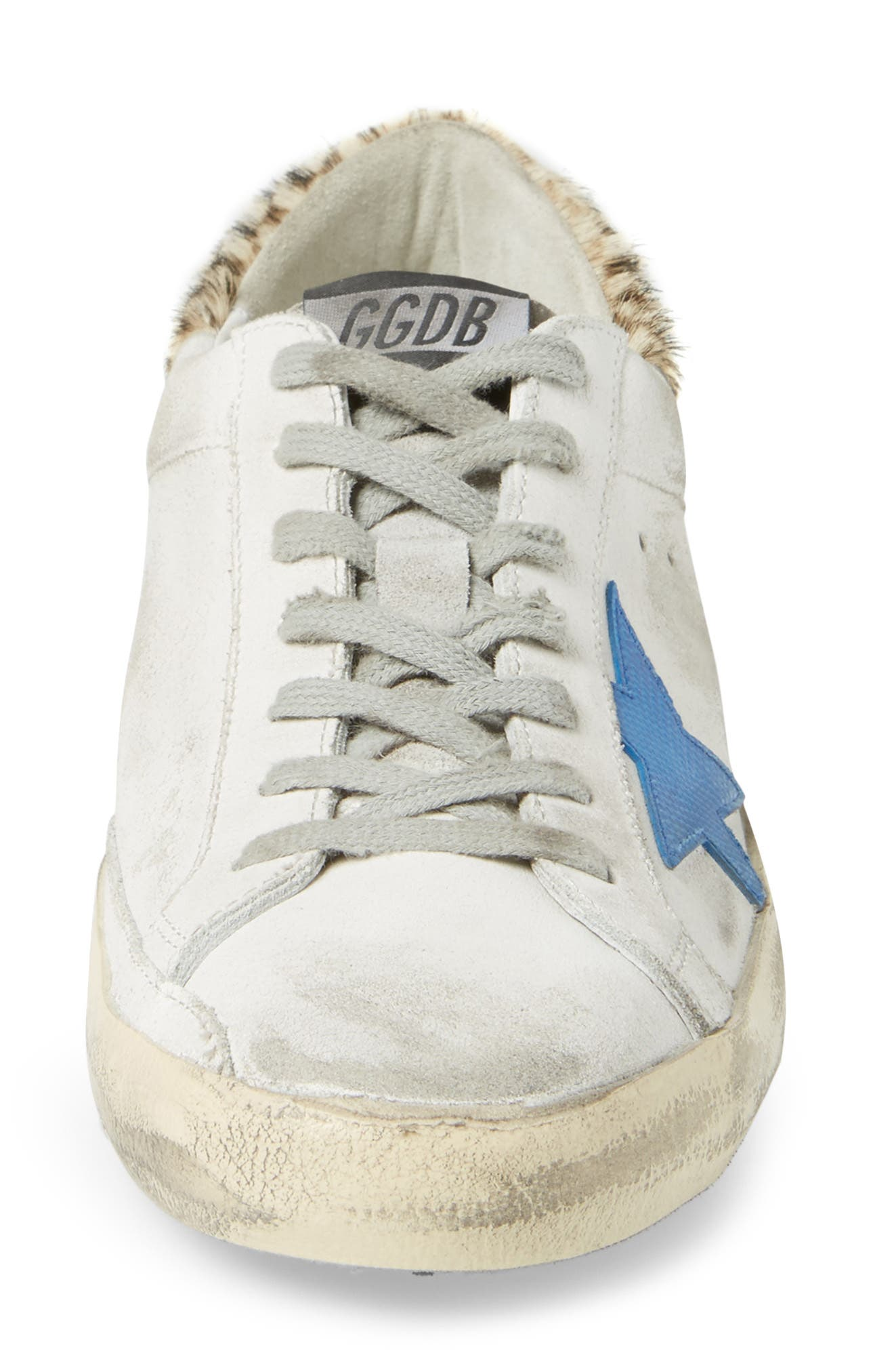 Alternate Image 4  - Golden Goose Superstar Sneaker with Genuine Calf Hair Trim (Men)