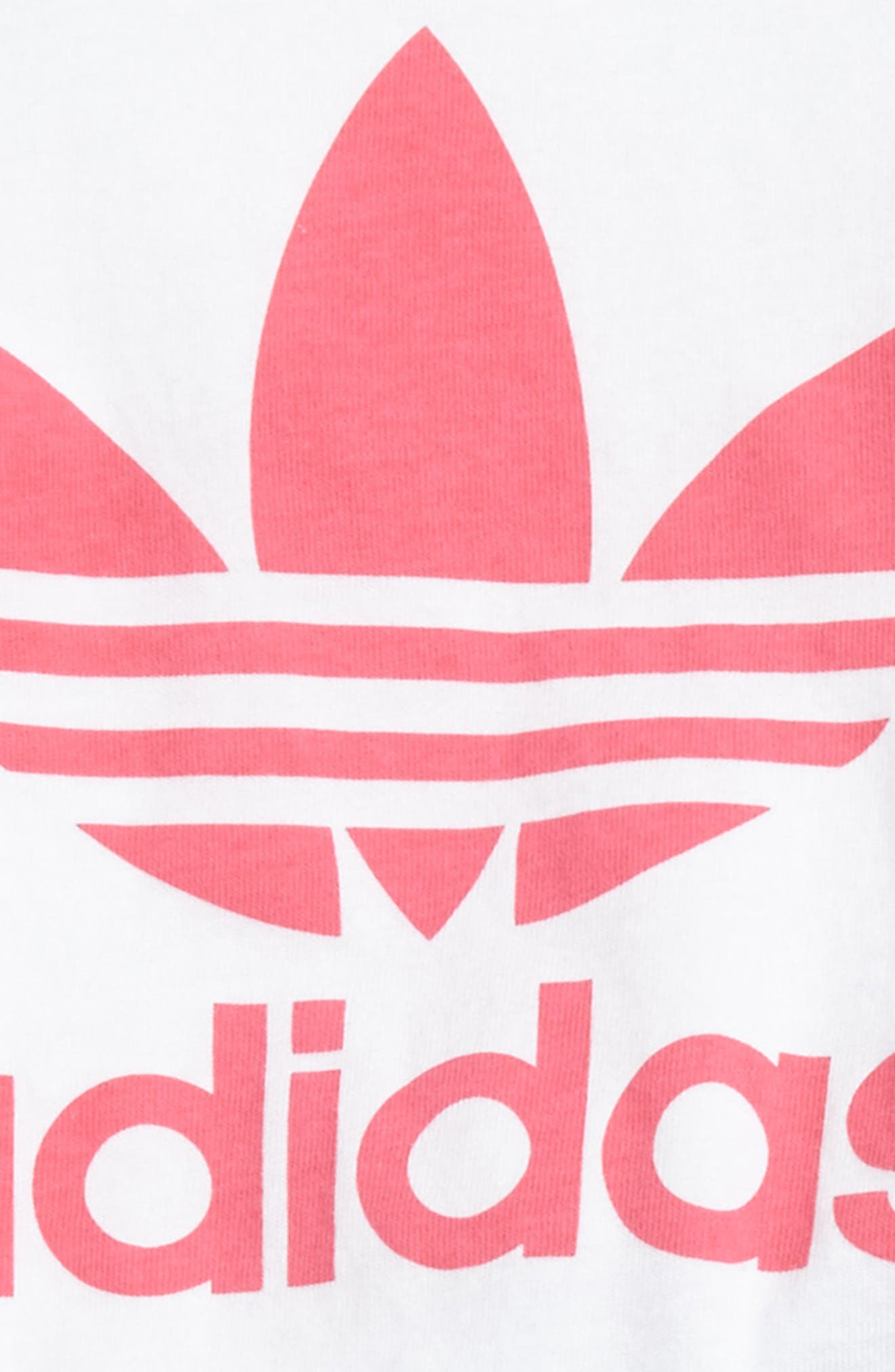 Alternate Image 2  - adidas Originals Graphic Tee & Shorts Set (Baby Girls)