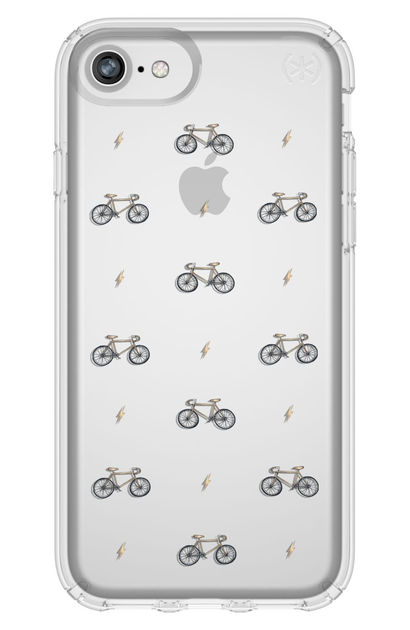 Transparent Bikes & Bolts iPhone 6/6s/7/8 Case,                             Main thumbnail 1, color,                             Bikes N Bolts Yellow/ Clear
