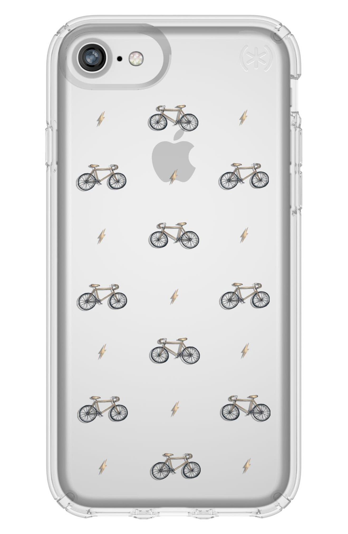 Main Image - Speck Transparent Bikes & Bolts iPhone 6/6s/7/8 Case