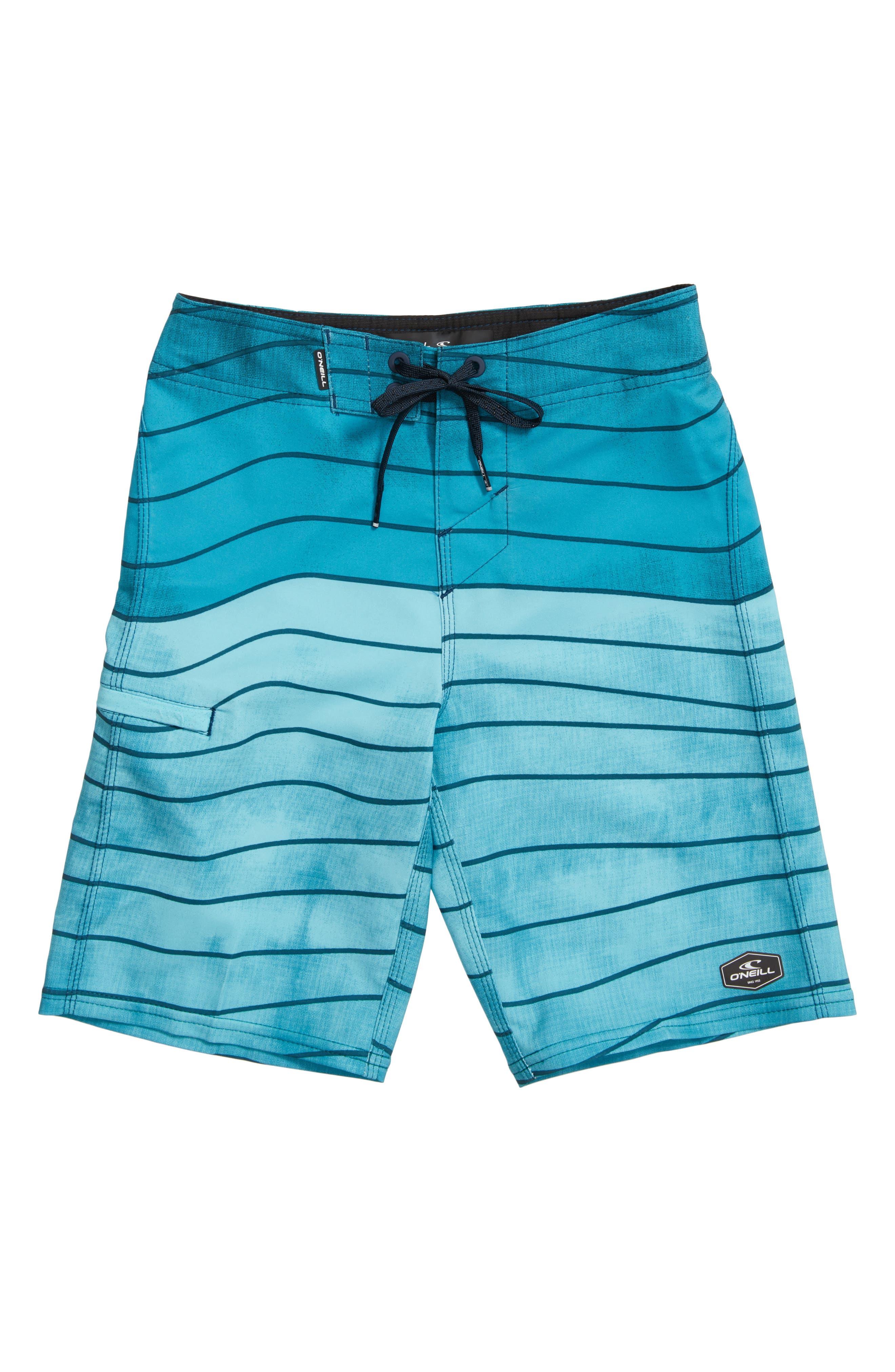 O'Neill Hyperfreak Swell Stripe Board Shorts (Big Boys)