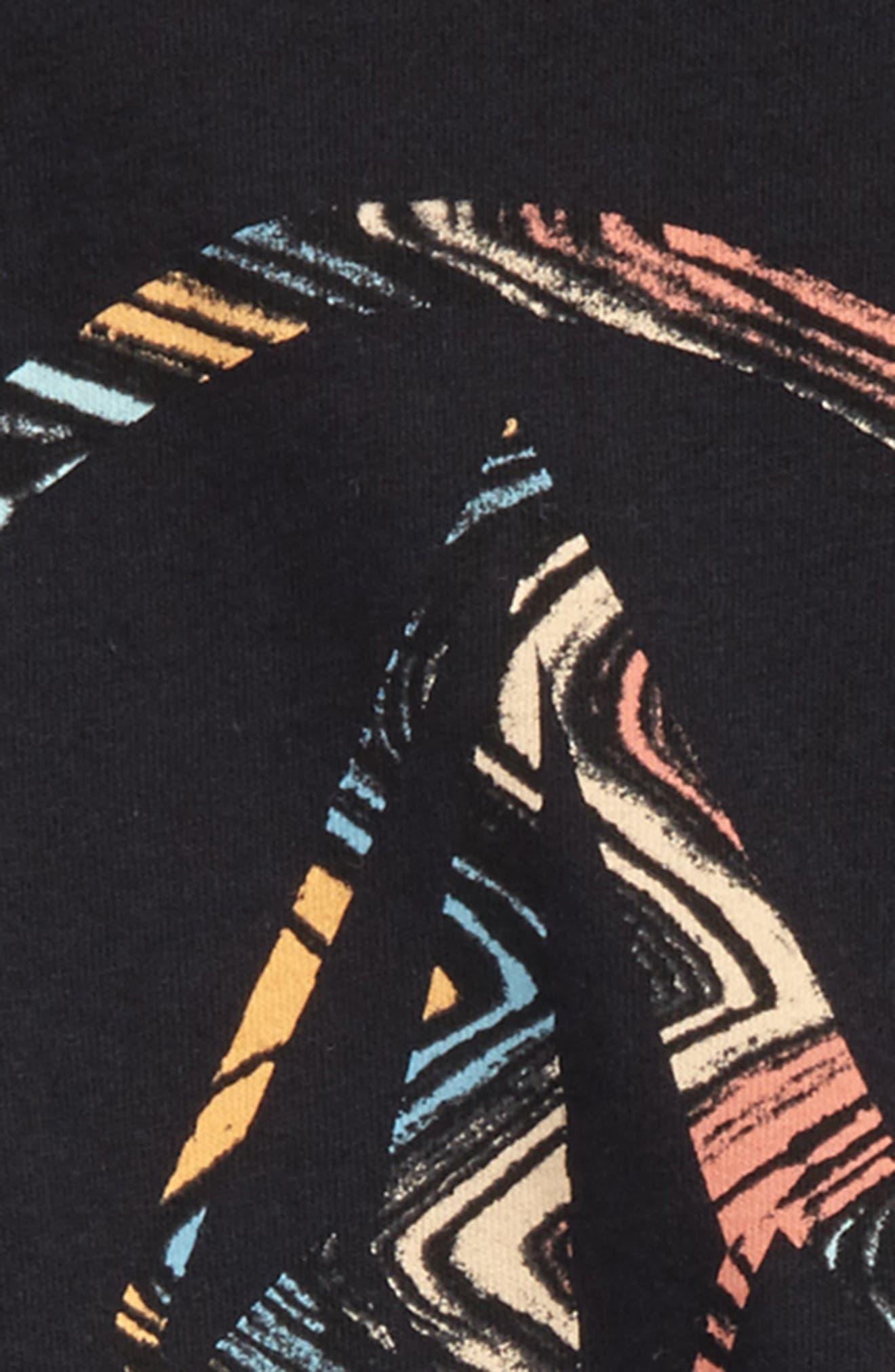 Lo-Fi Stone Logo Graphic T-Shirt,                             Alternate thumbnail 2, color,                             Black