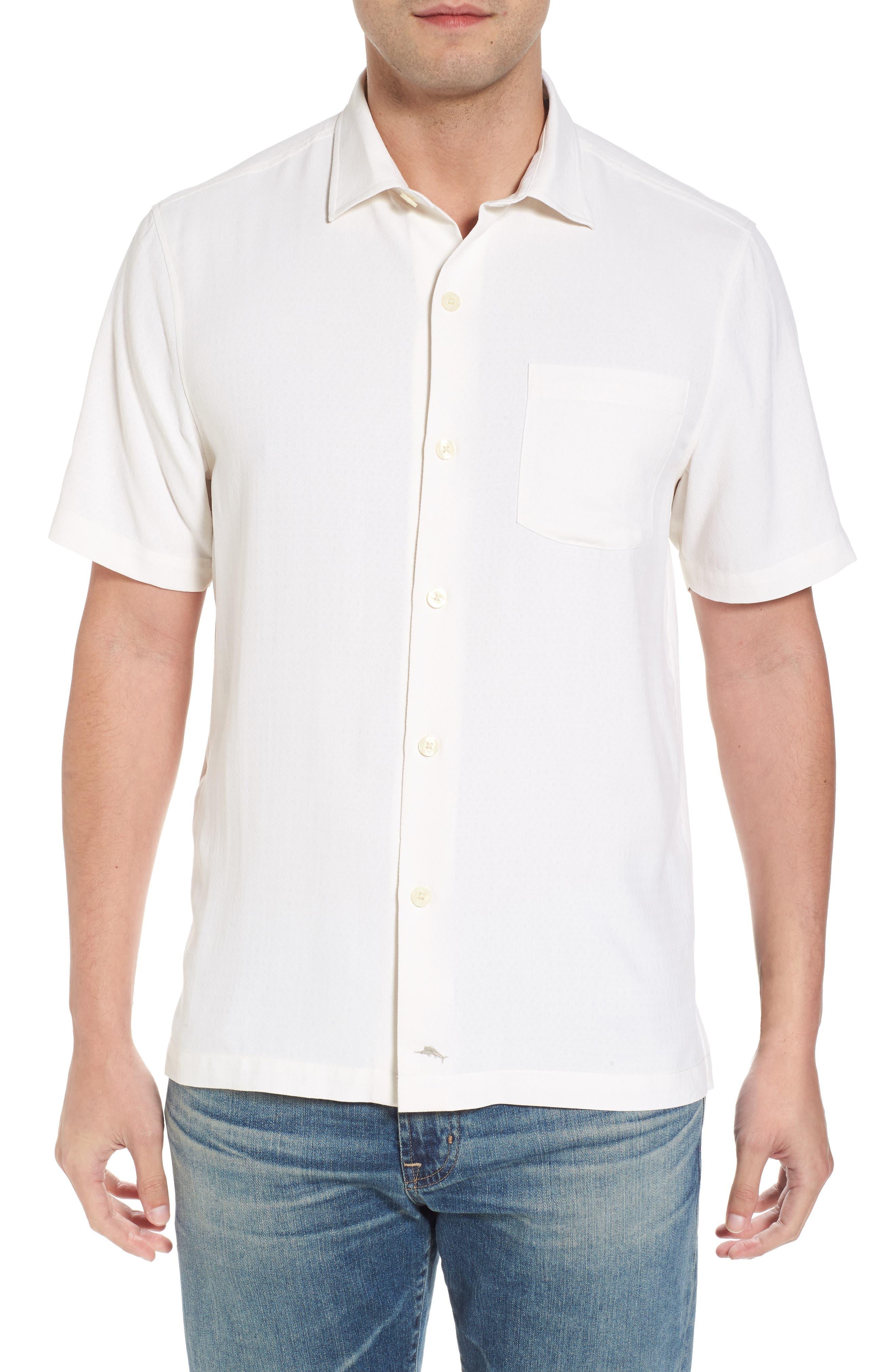 Oasis Jacquard Silk Sport Shirt,                         Main,                         color, Continental