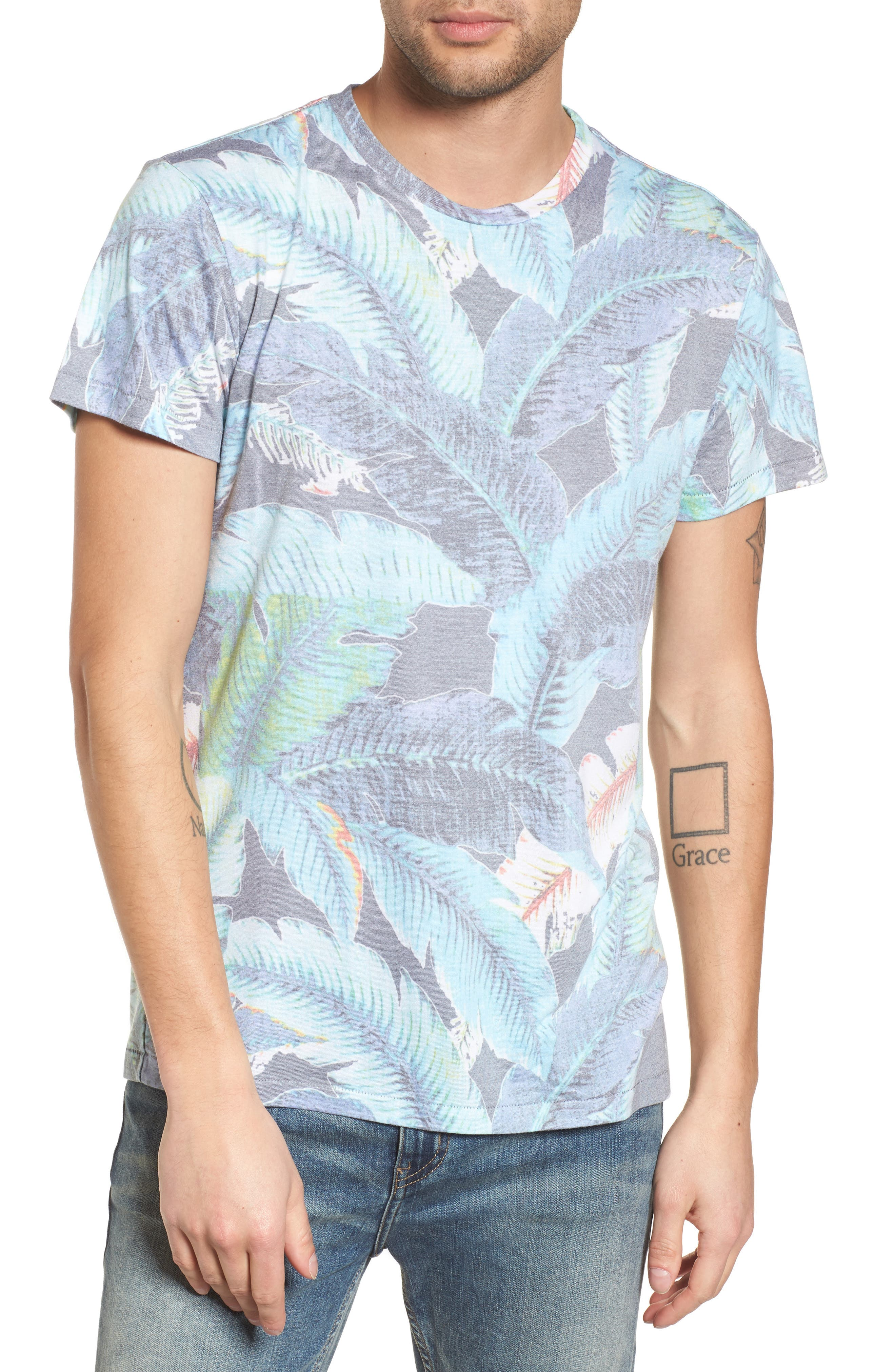 Lanai Leaf T-Shirt,                         Main,                         color, Lanai Leaf
