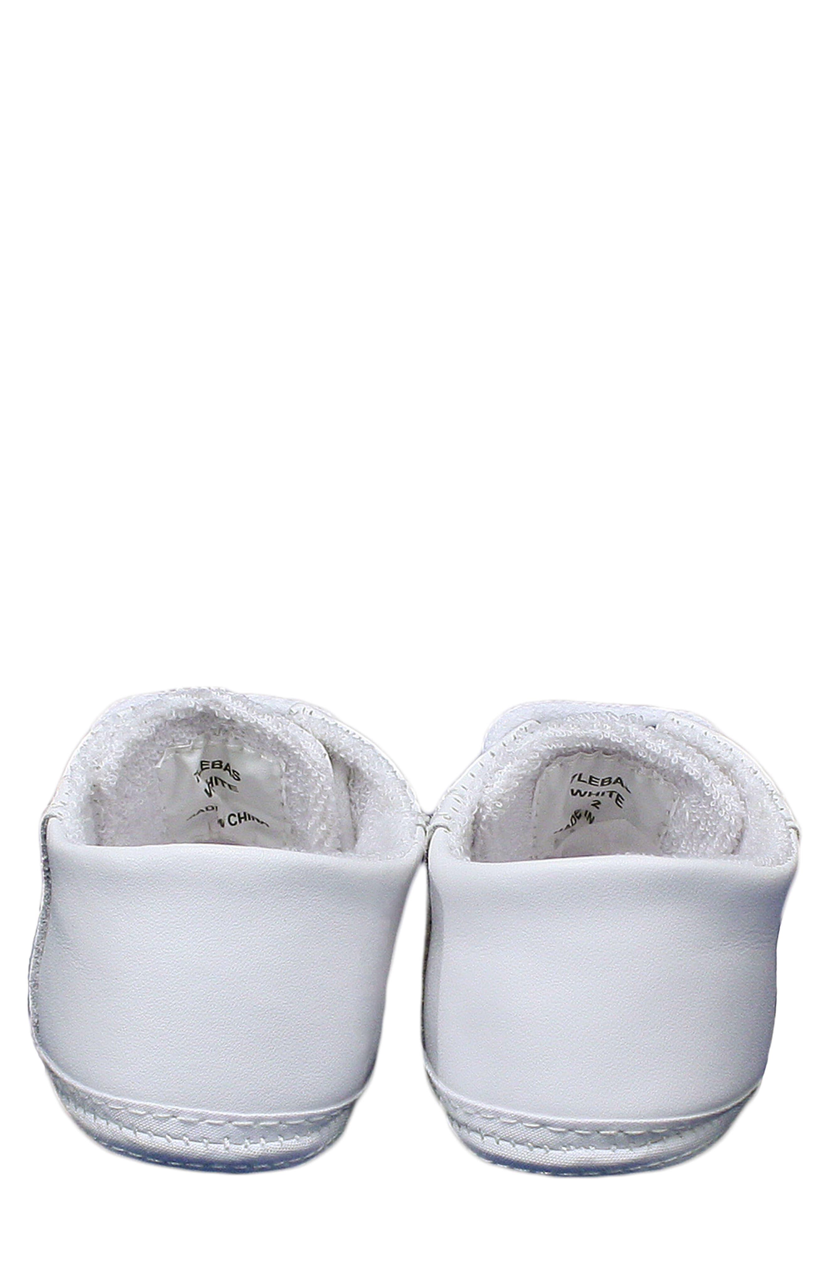 Leather Crib Shoe,                             Alternate thumbnail 3, color,                             White