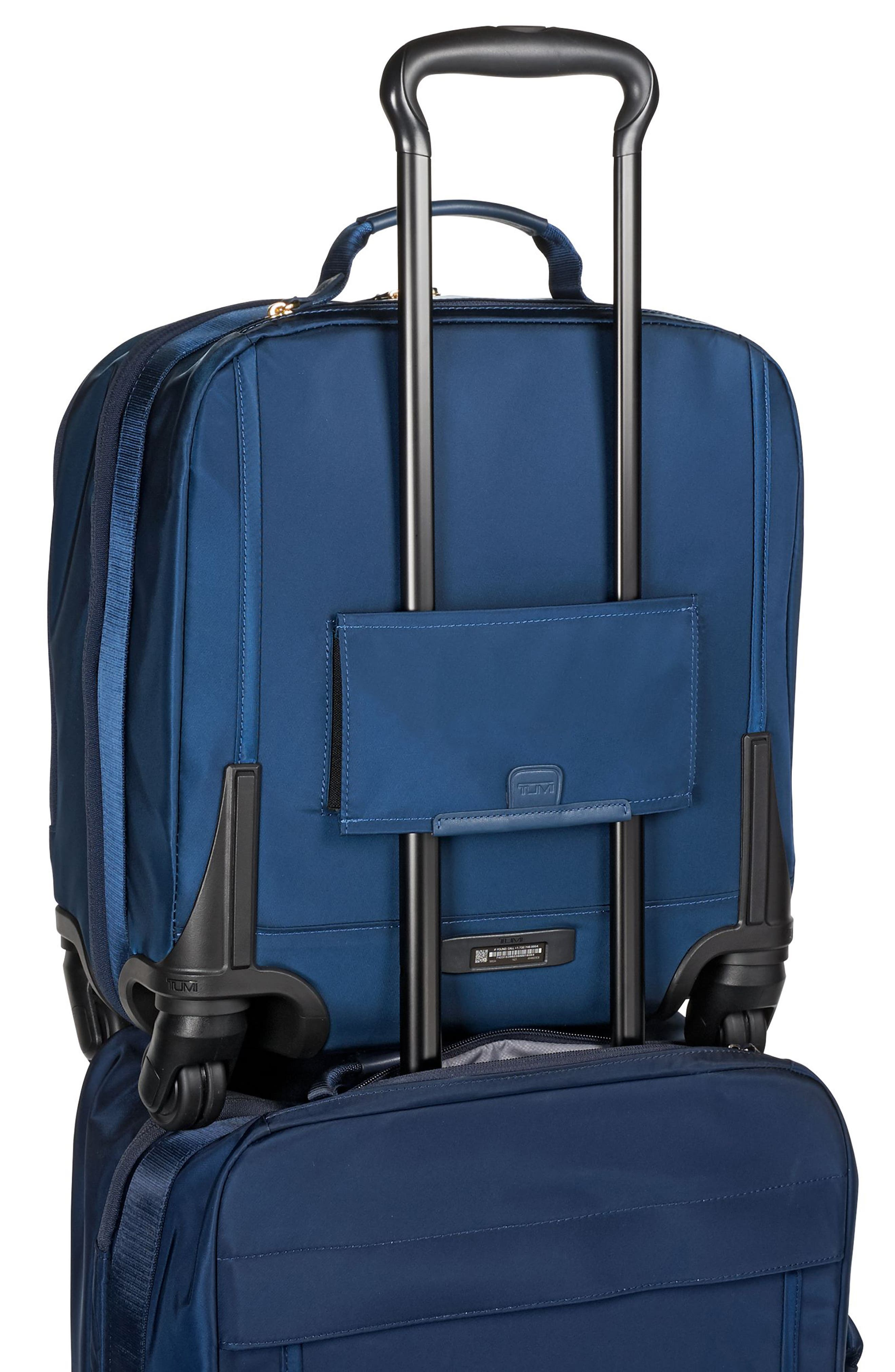Voyageur - Oslo Compact 15-Inch Wheeled Carry-On,                             Alternate thumbnail 3, color,                             Ocean Blue