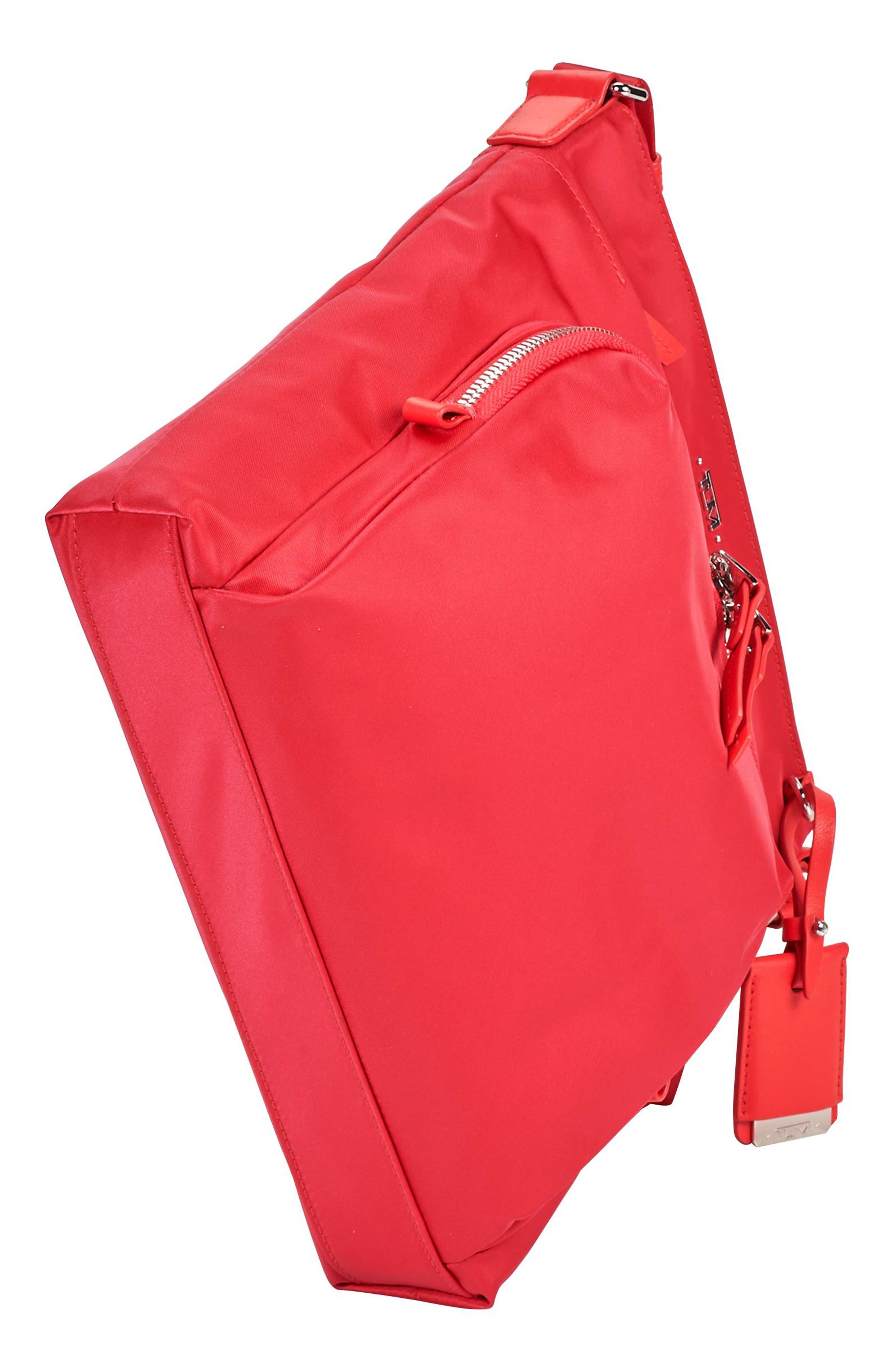 Voyageur - Capri Nylon Crossbody Bag,                             Alternate thumbnail 3, color,                             Hot Pink