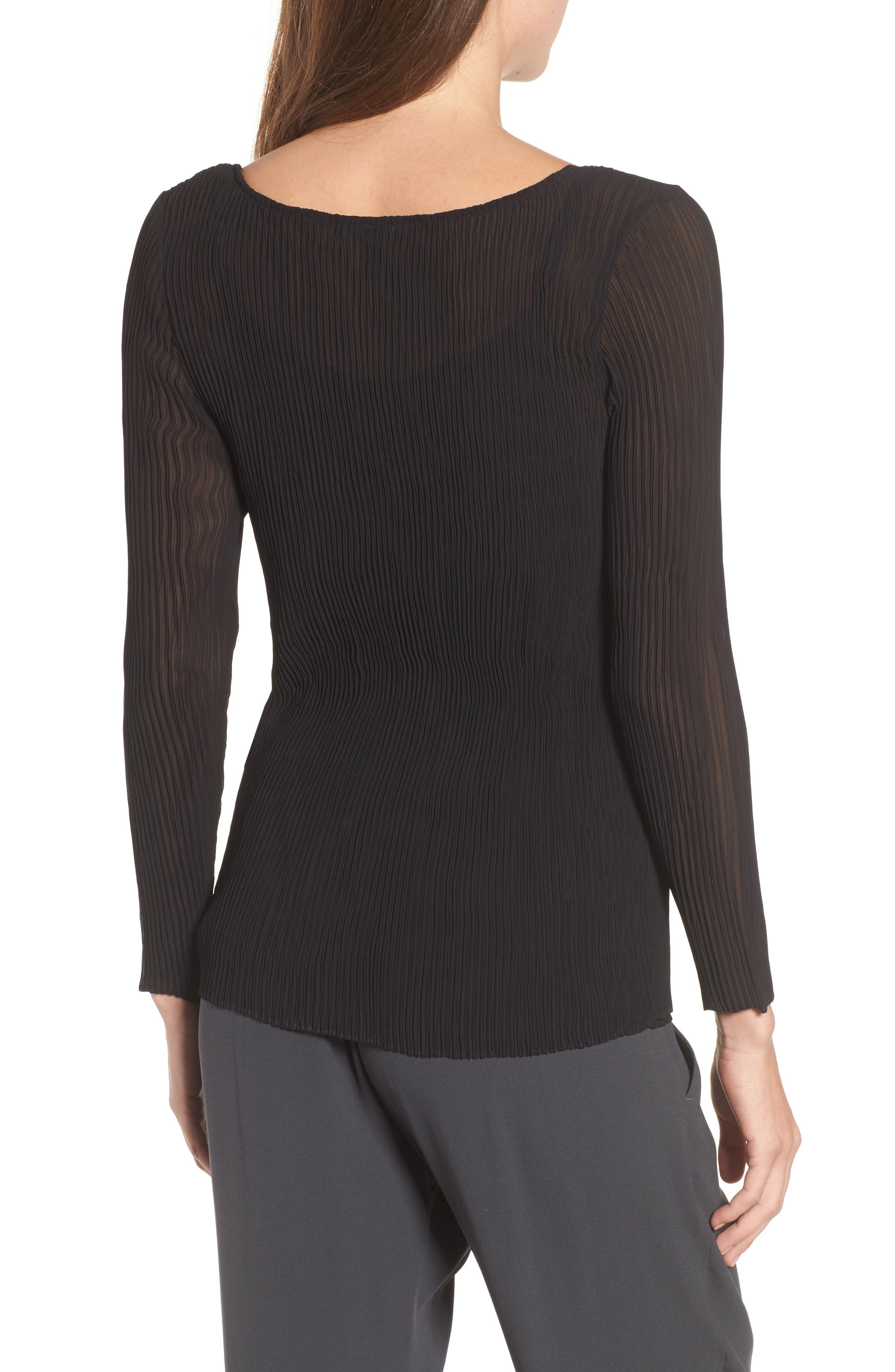 Ribbed Top,                             Alternate thumbnail 2, color,                             Black
