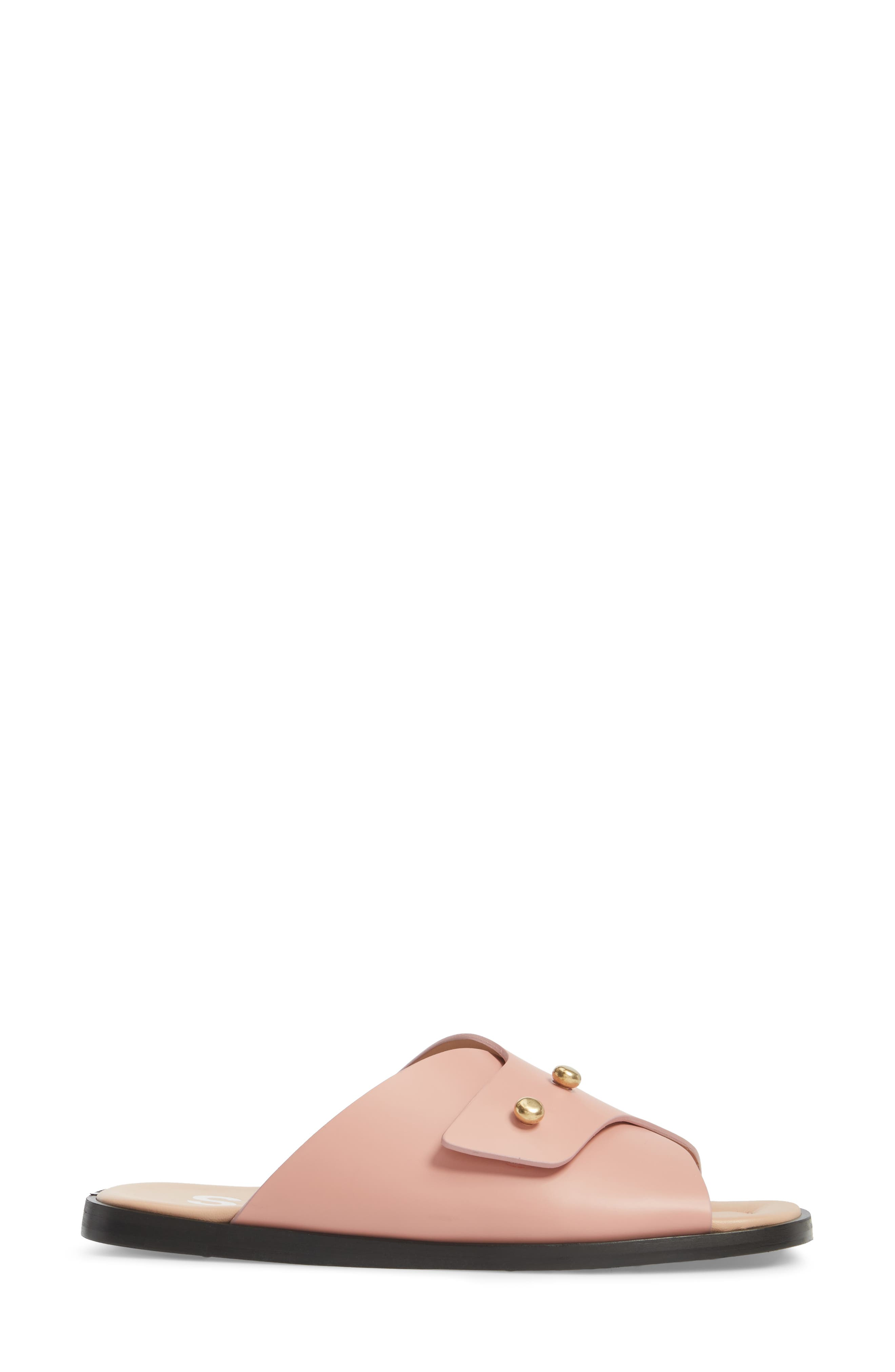 Jilly Studded Slide Sandal,                             Alternate thumbnail 3, color,                             Pink