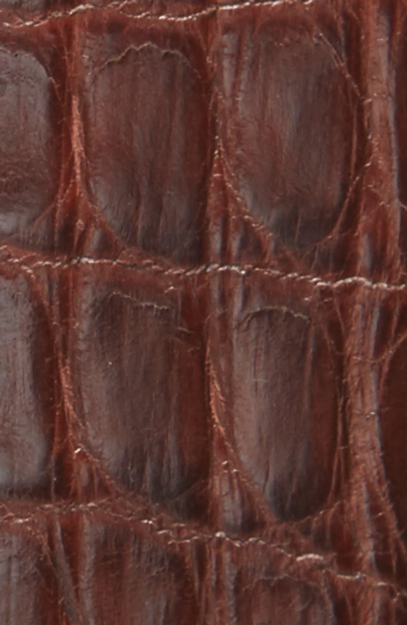 Alternate Image 2  - Magnanni Crocodile Leather Belt