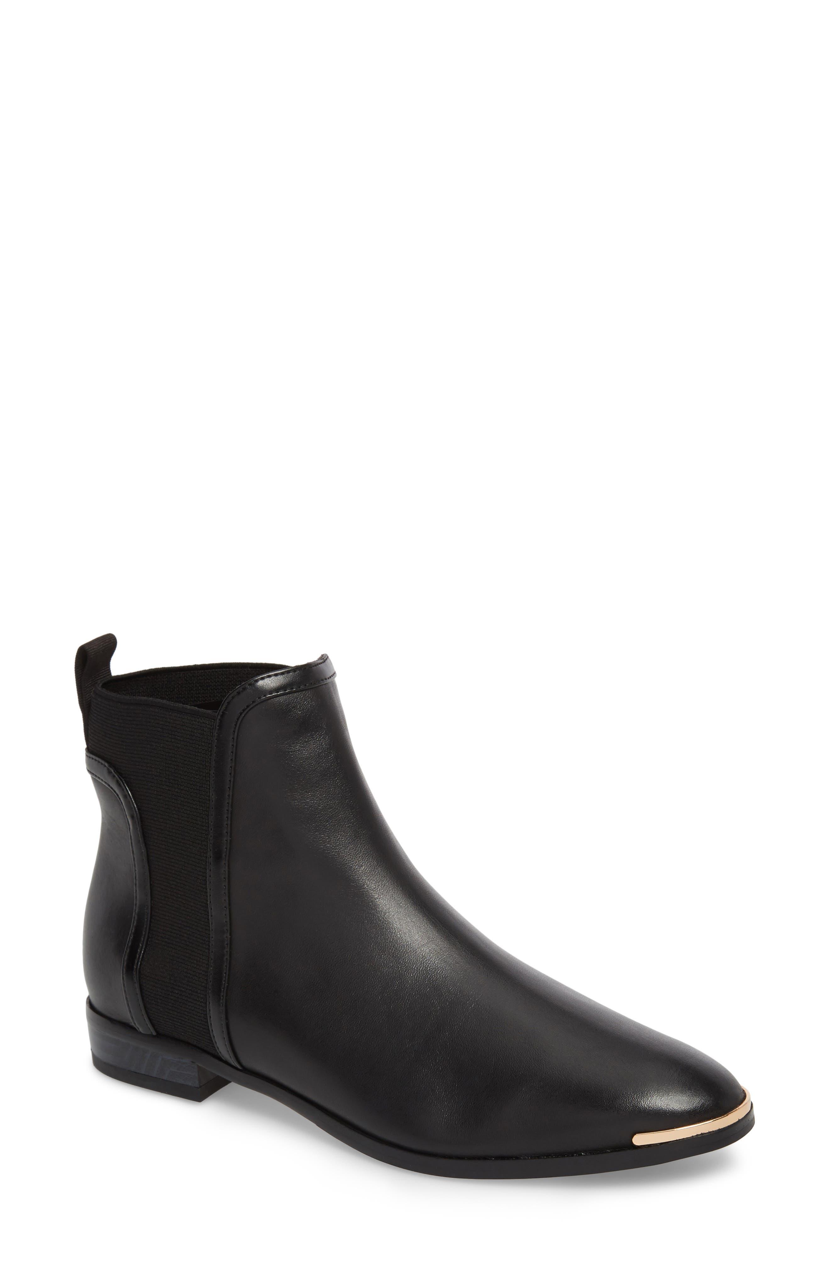 Kerei Chelsea Boot,                         Main,                         color, Black Leather
