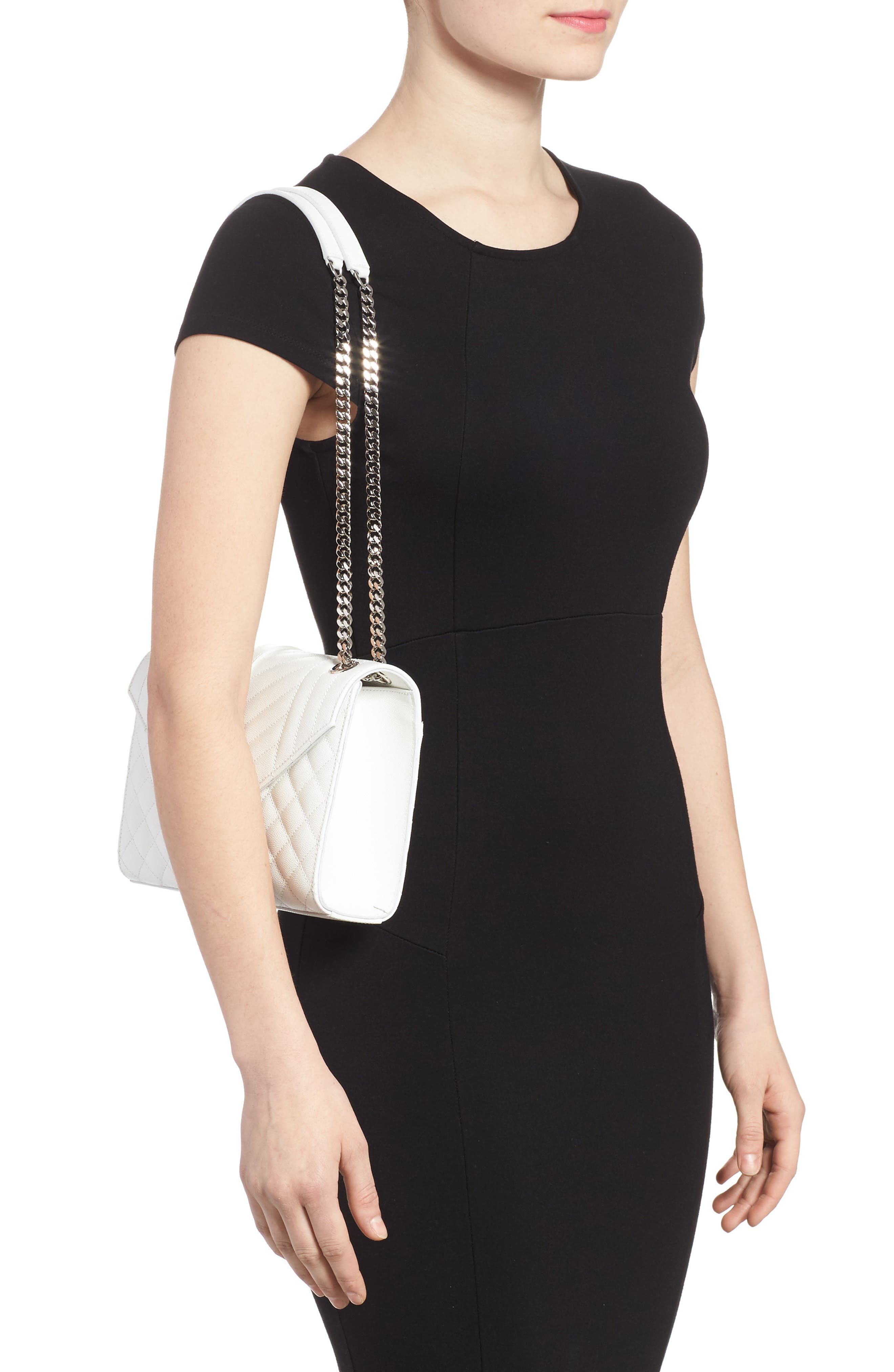 Alternate Image 2  - Saint Laurent Medium Calfskin Shoulder Bag