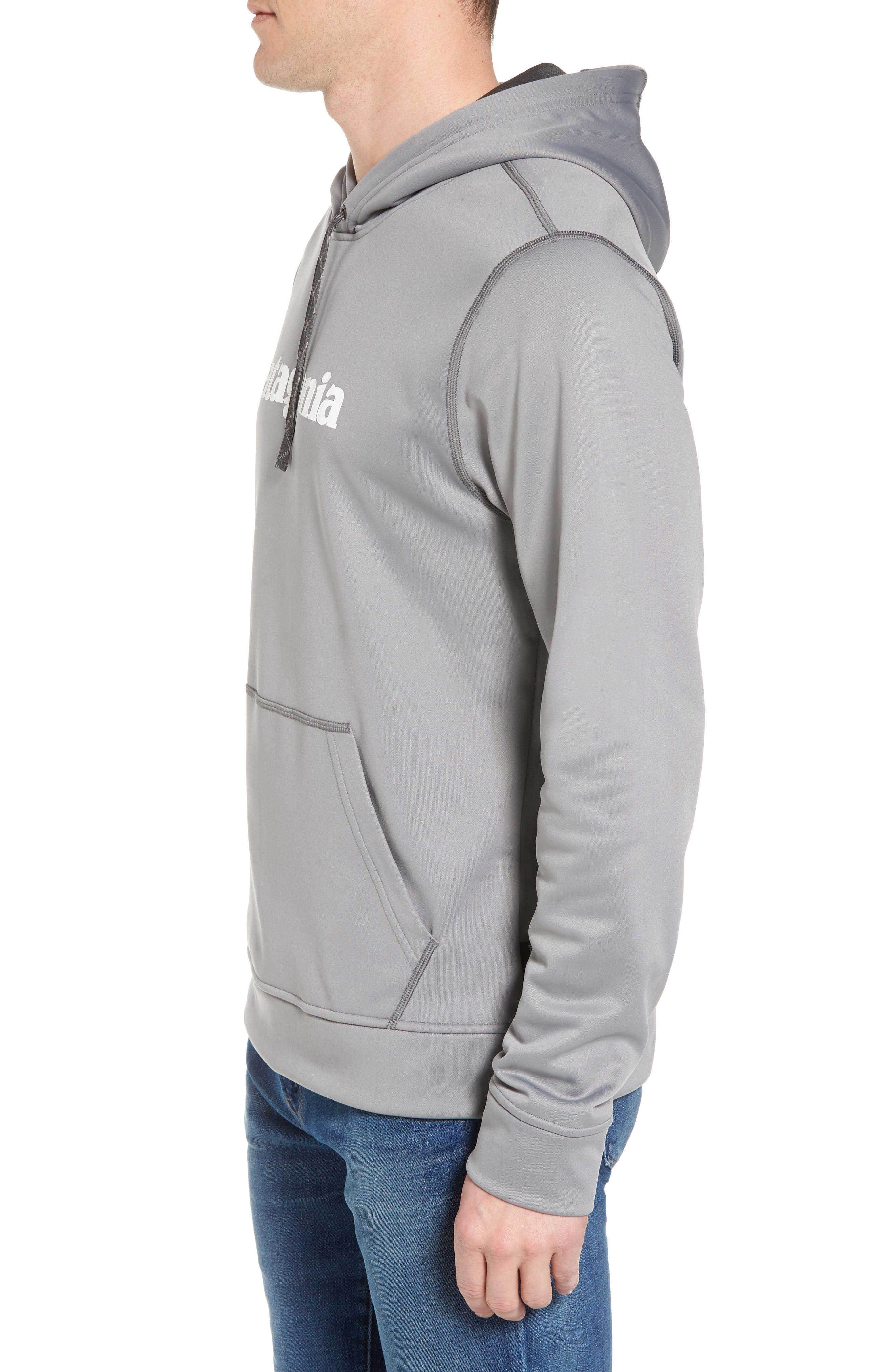 Polycycle Hoodie,                             Alternate thumbnail 3, color,                             Feather Grey/ White