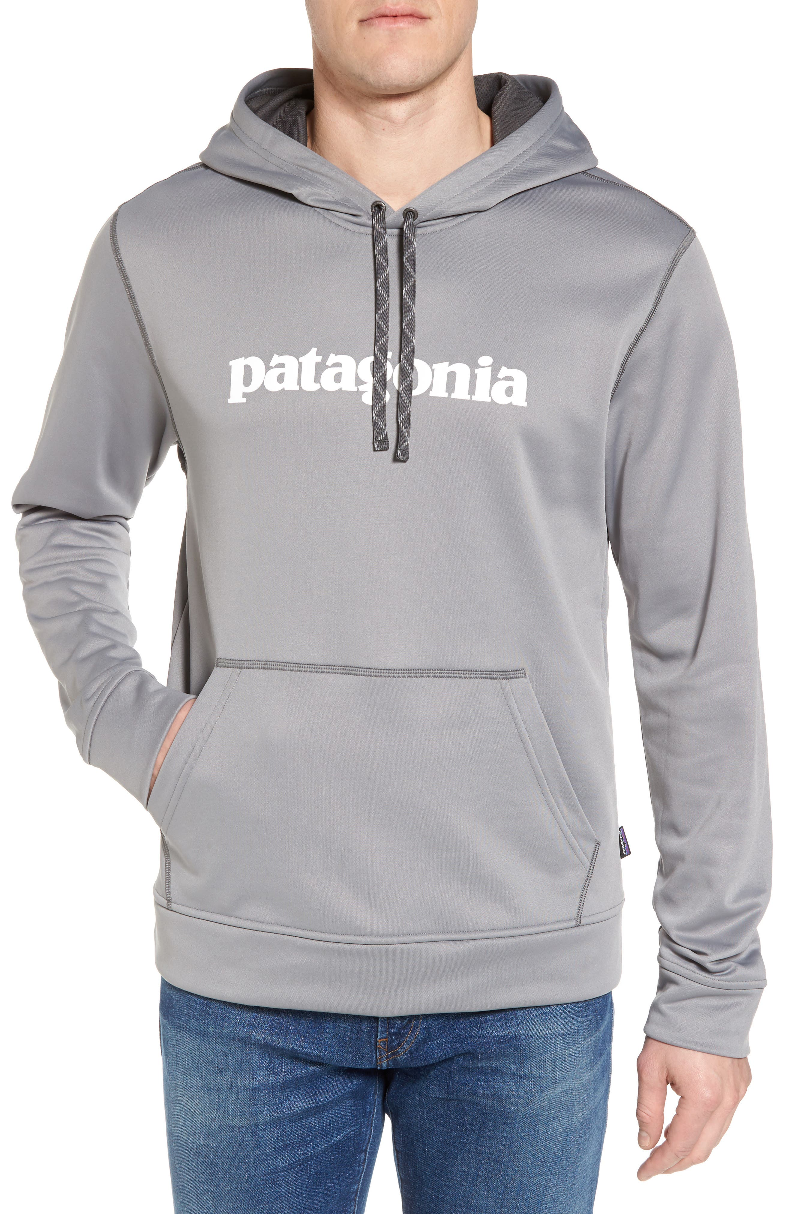 Polycycle Hoodie,                             Main thumbnail 1, color,                             Feather Grey/ White