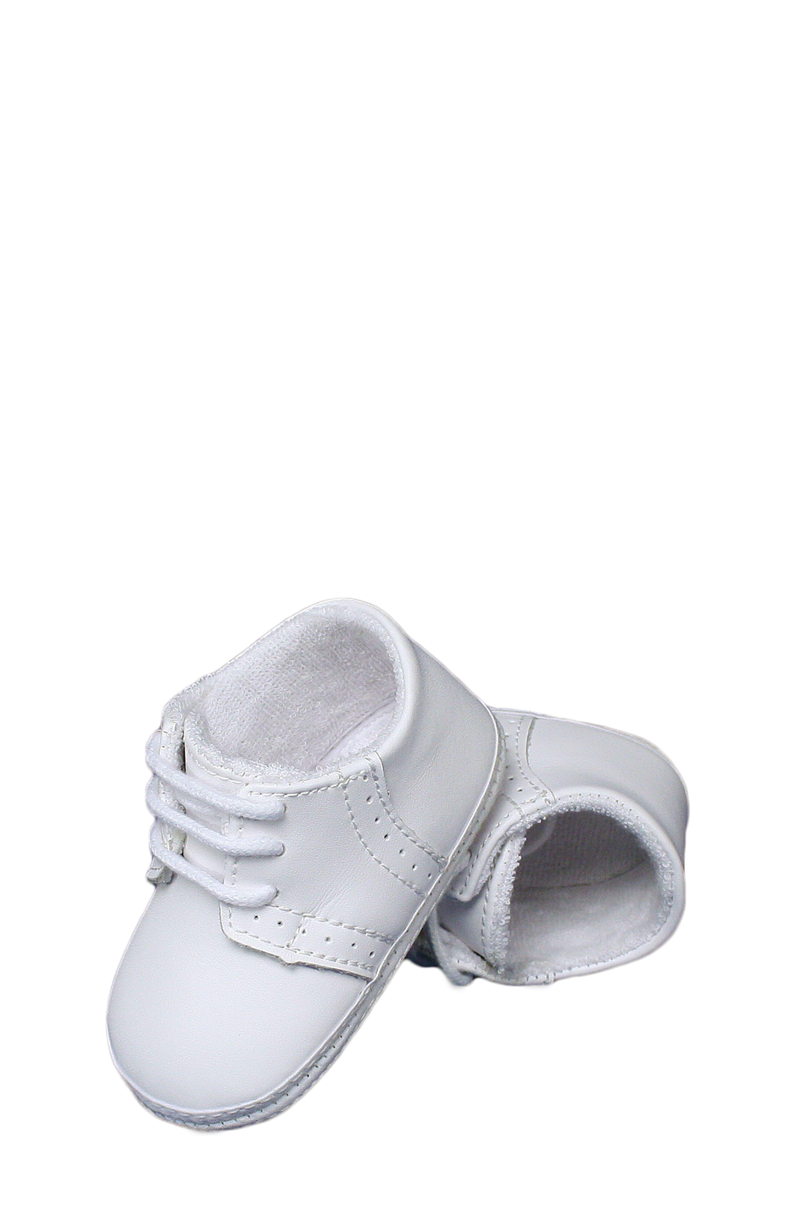 Leather Crib Shoe,                             Alternate thumbnail 2, color,                             White
