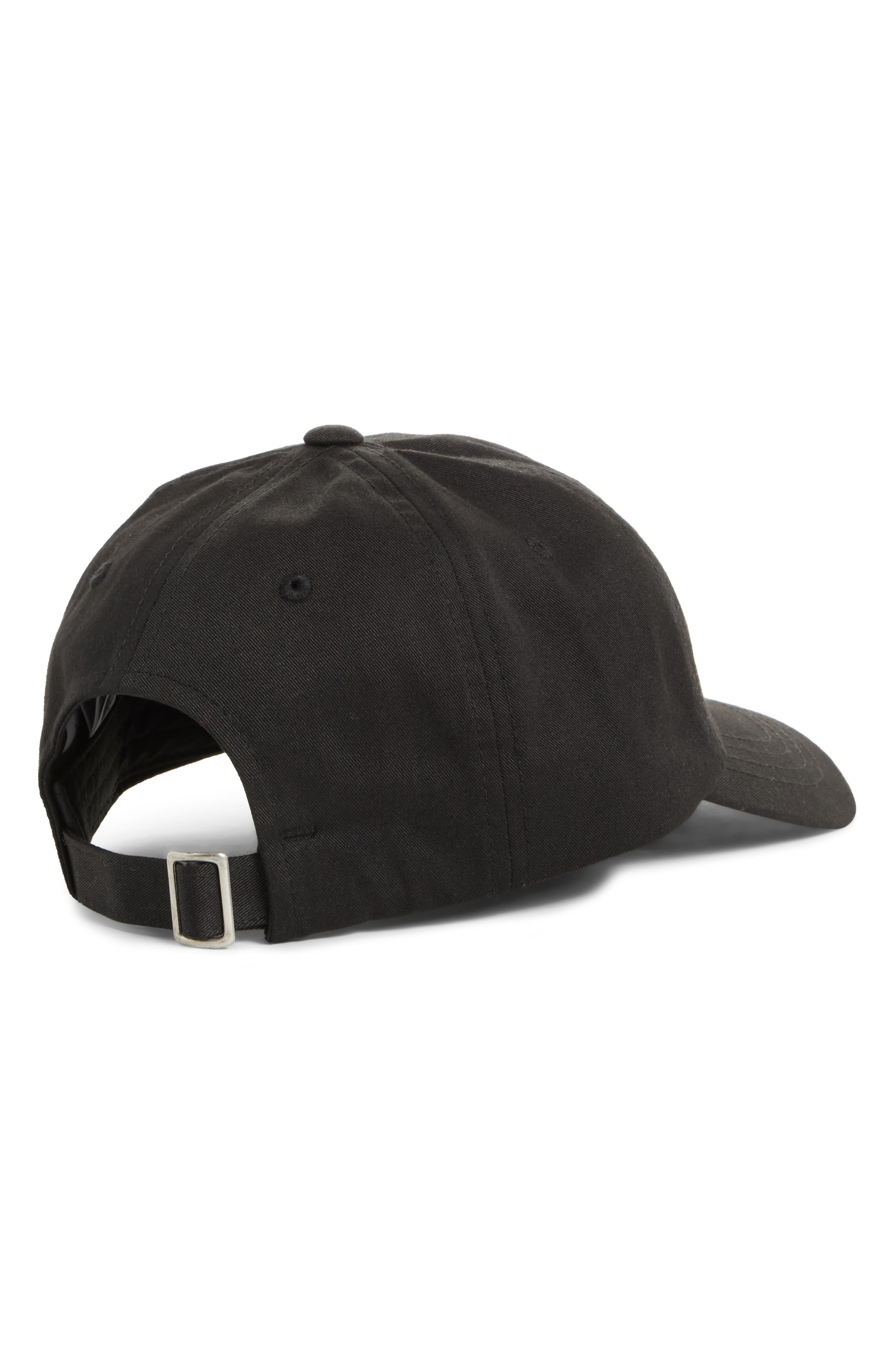 Norm Poppy Embroidered Adjustable Cap,                             Alternate thumbnail 2, color,                             Tnf Black