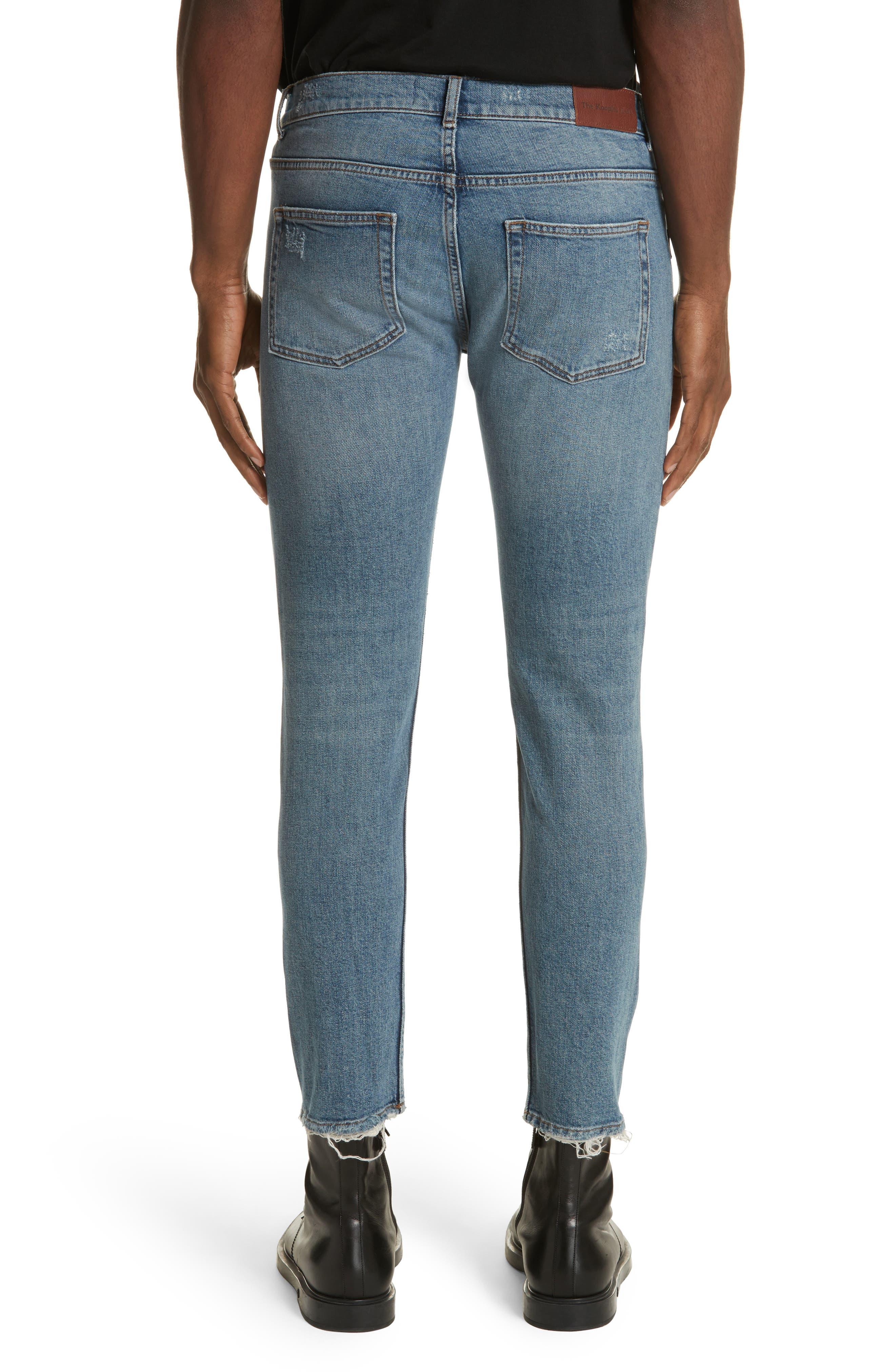 Destroyed Skinny Fit Jeans,                             Alternate thumbnail 2, color,                             Blu 88