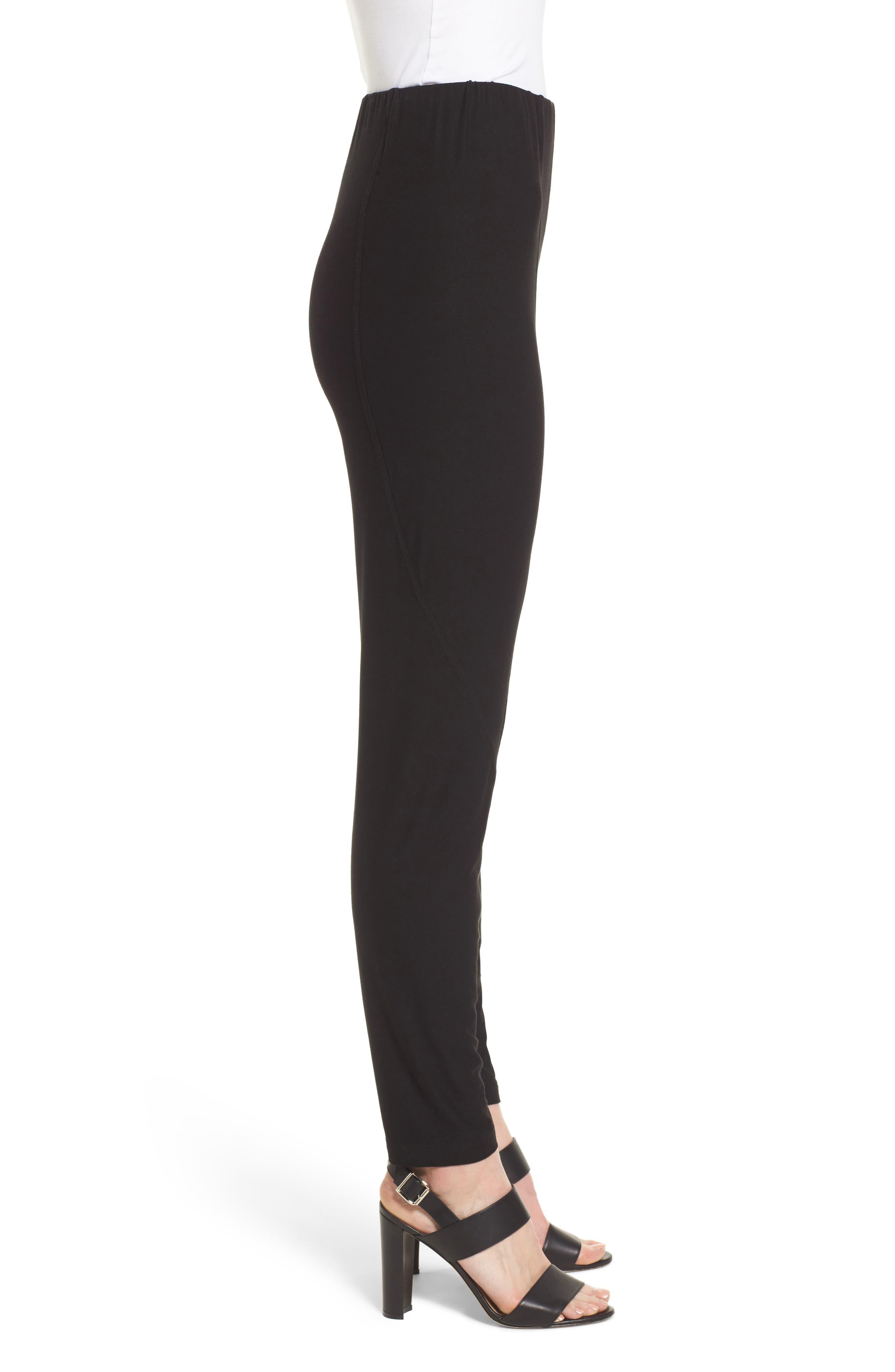 Jersey Leggings,                             Alternate thumbnail 3, color,                             Black