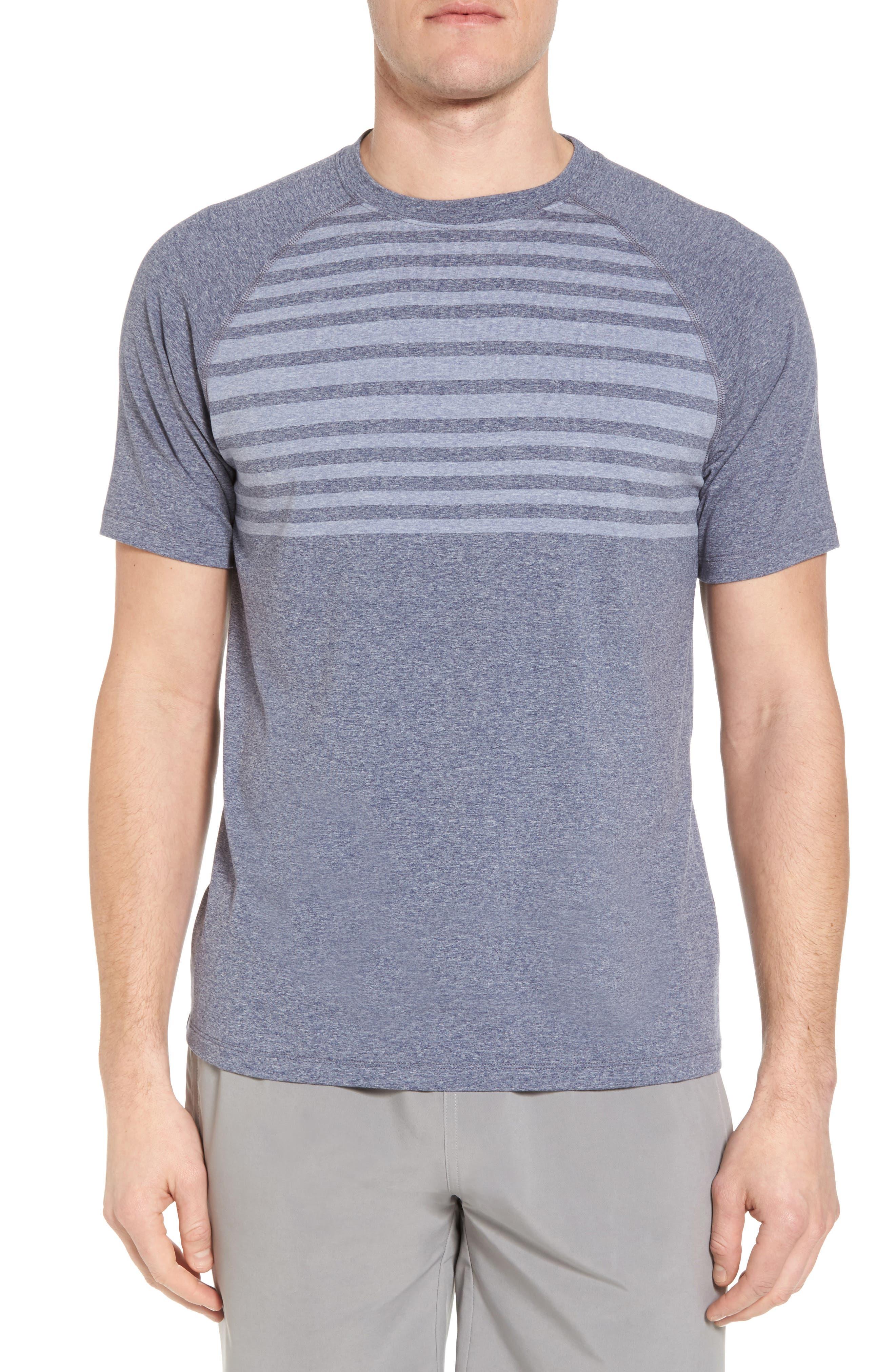 Main Image - Peter Millar Rio Stripe Technical T-Shirt