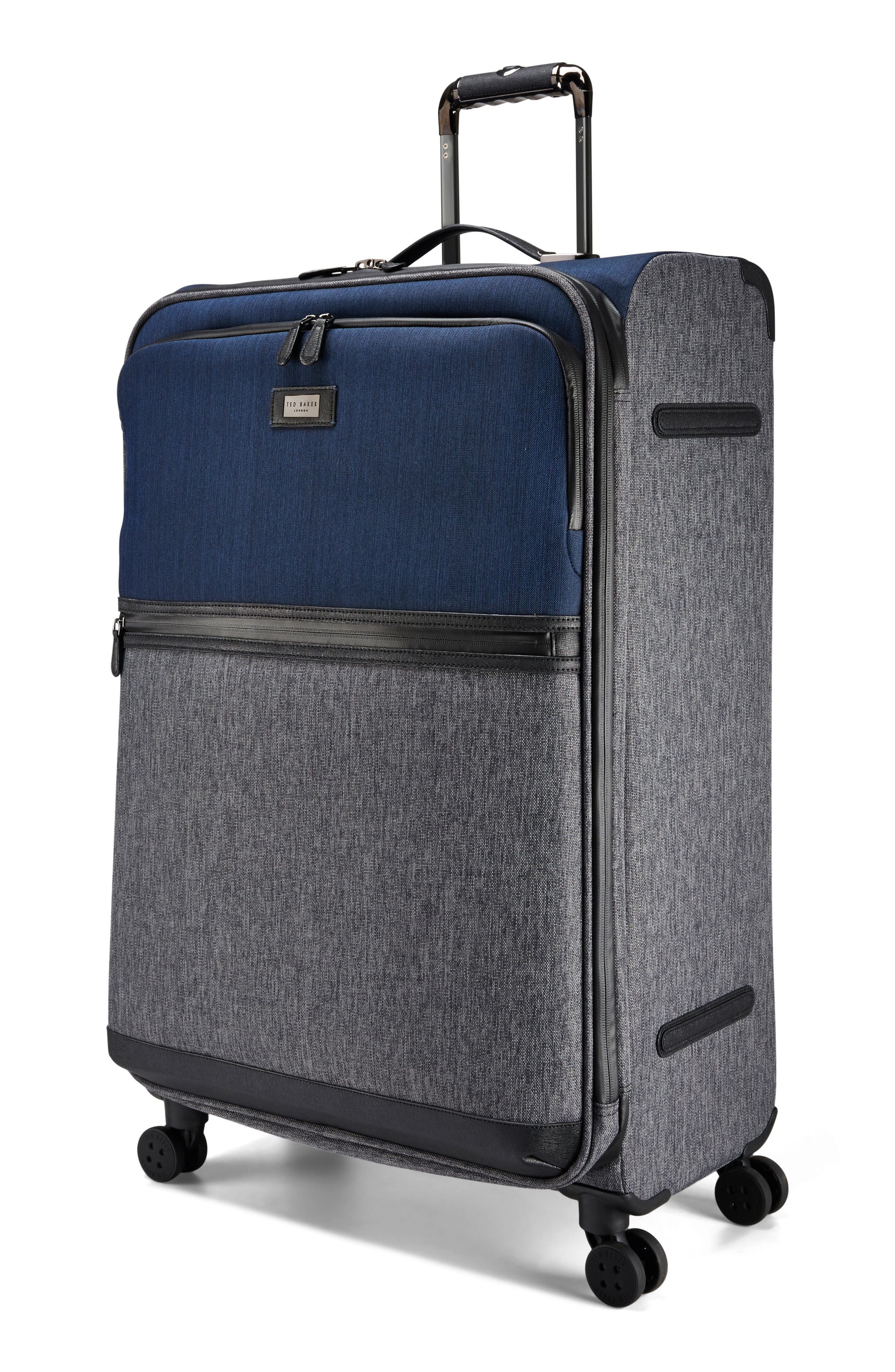 Large Brunswick 32-Inch Rolling Suitcase,                             Alternate thumbnail 3, color,                             Grey