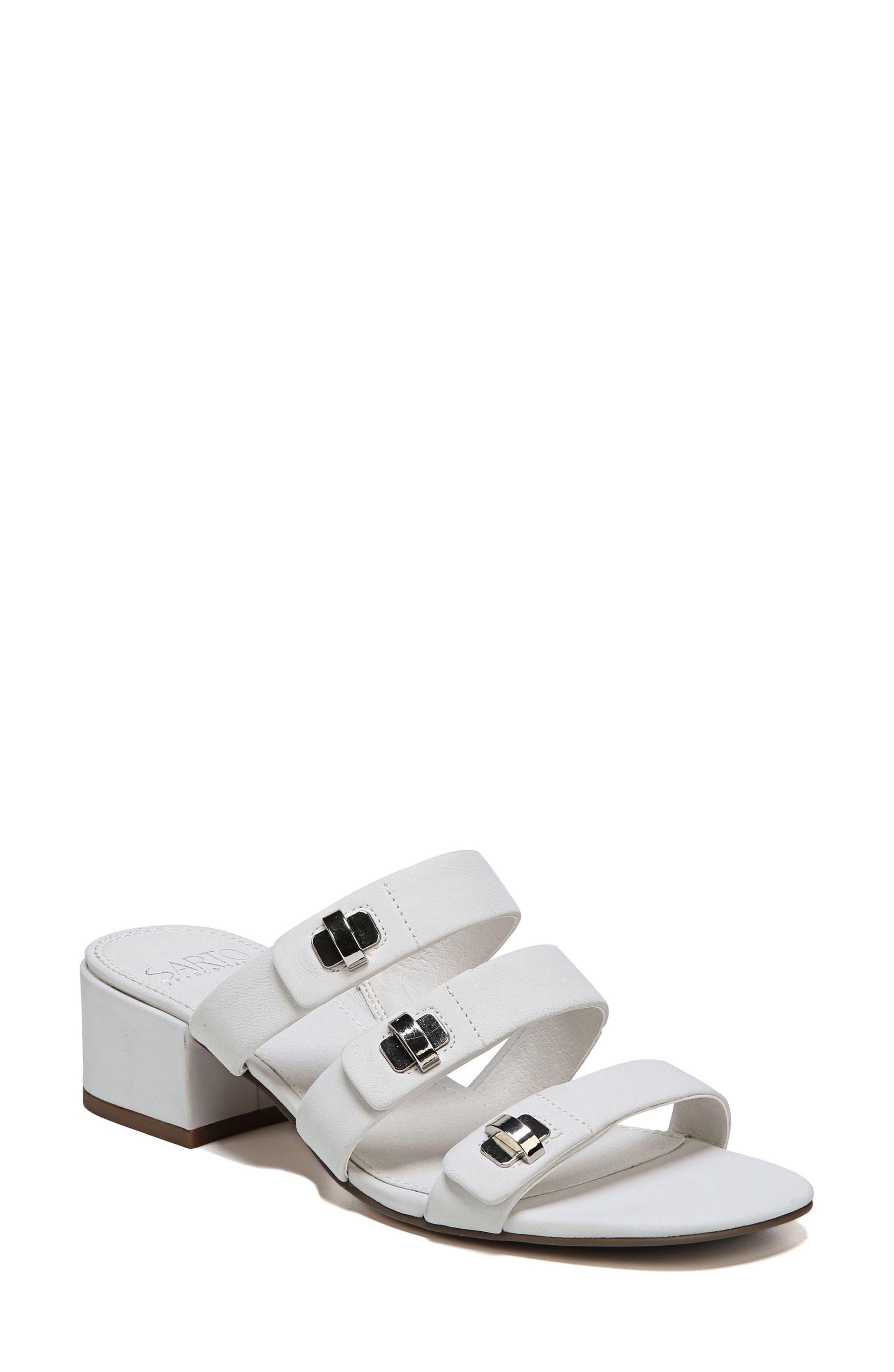 Arabesque Strappy Slide Sandal,                         Main,                         color, Blanca Nubuck