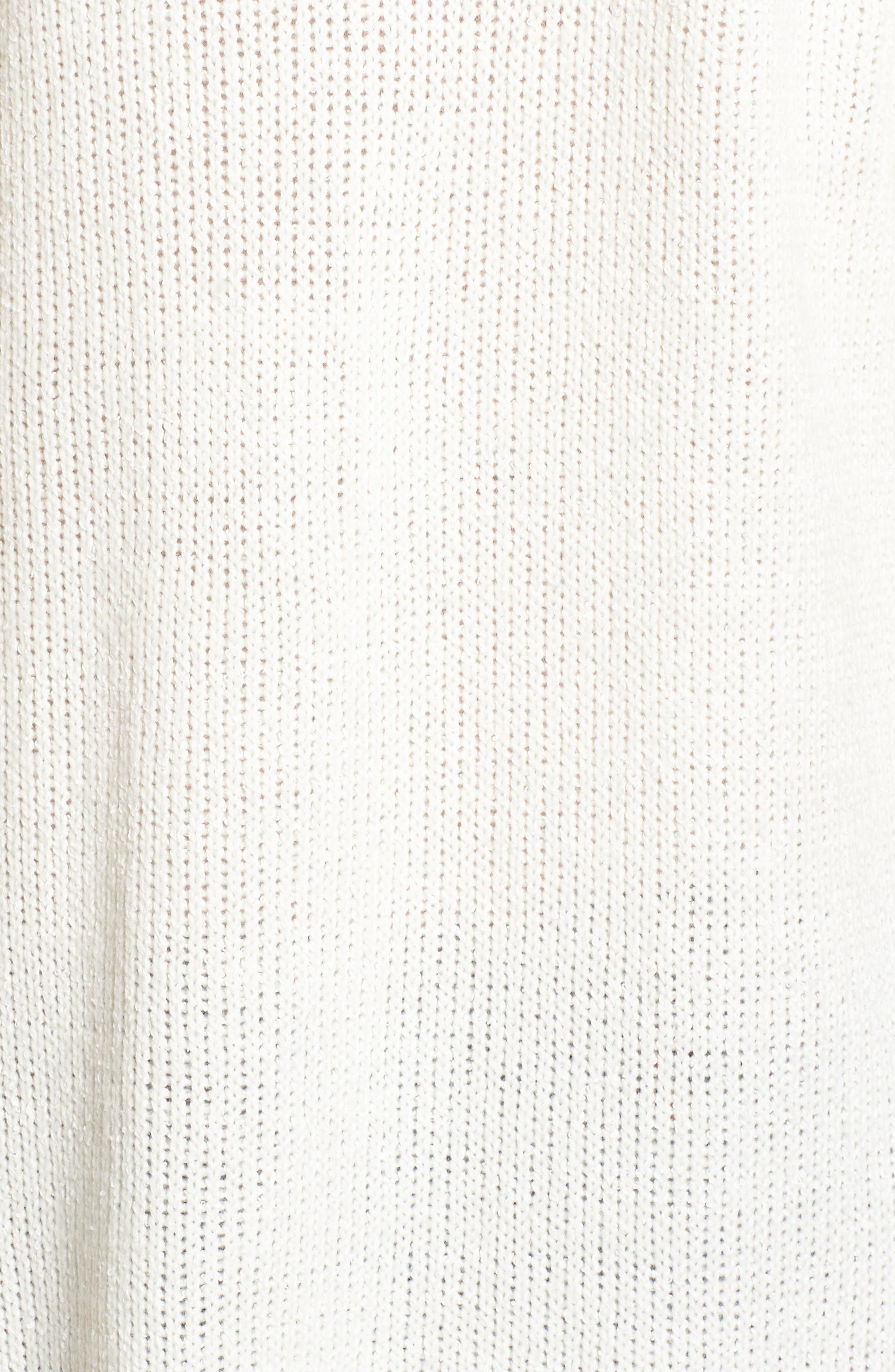 Blanco Open Cardigan,                             Alternate thumbnail 6, color,                             White