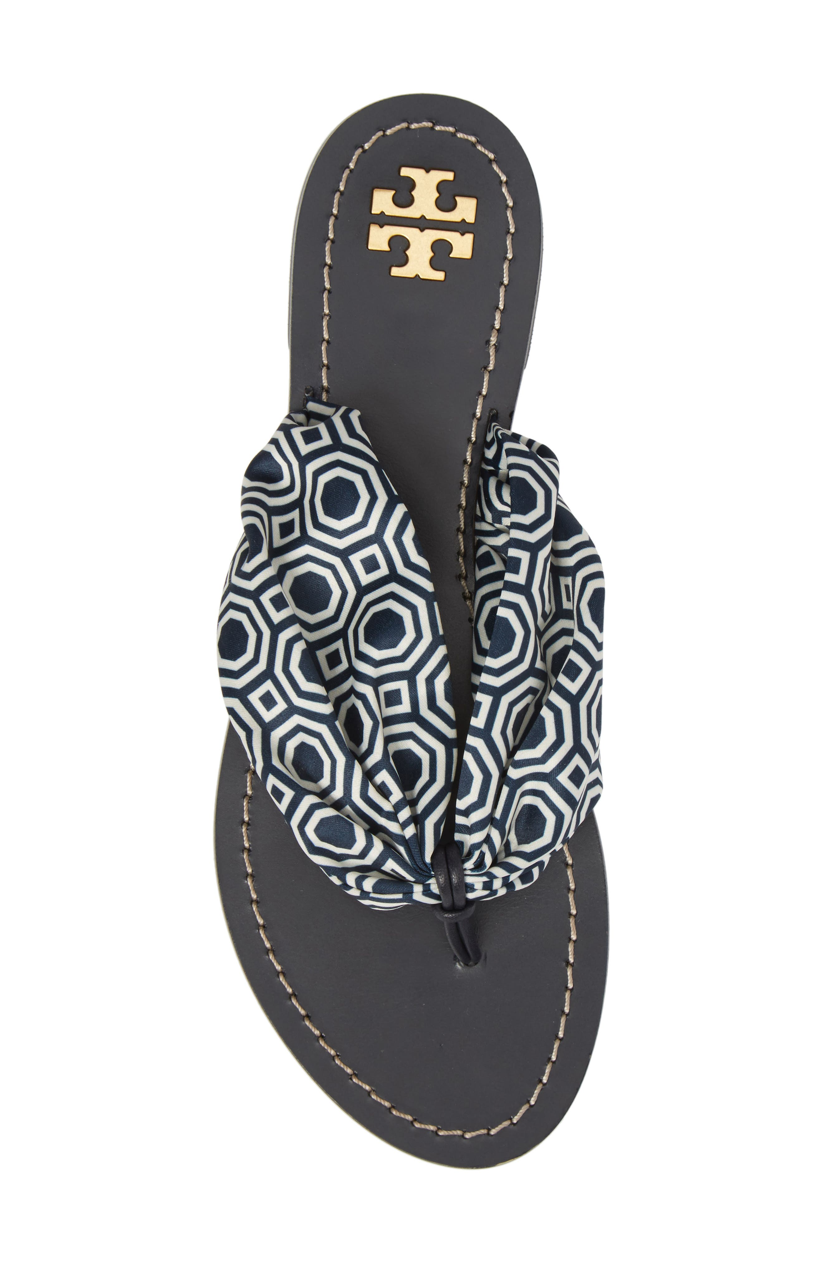 Carson Flip Flop,                             Alternate thumbnail 5, color,                             Tory Navy Octagon Square