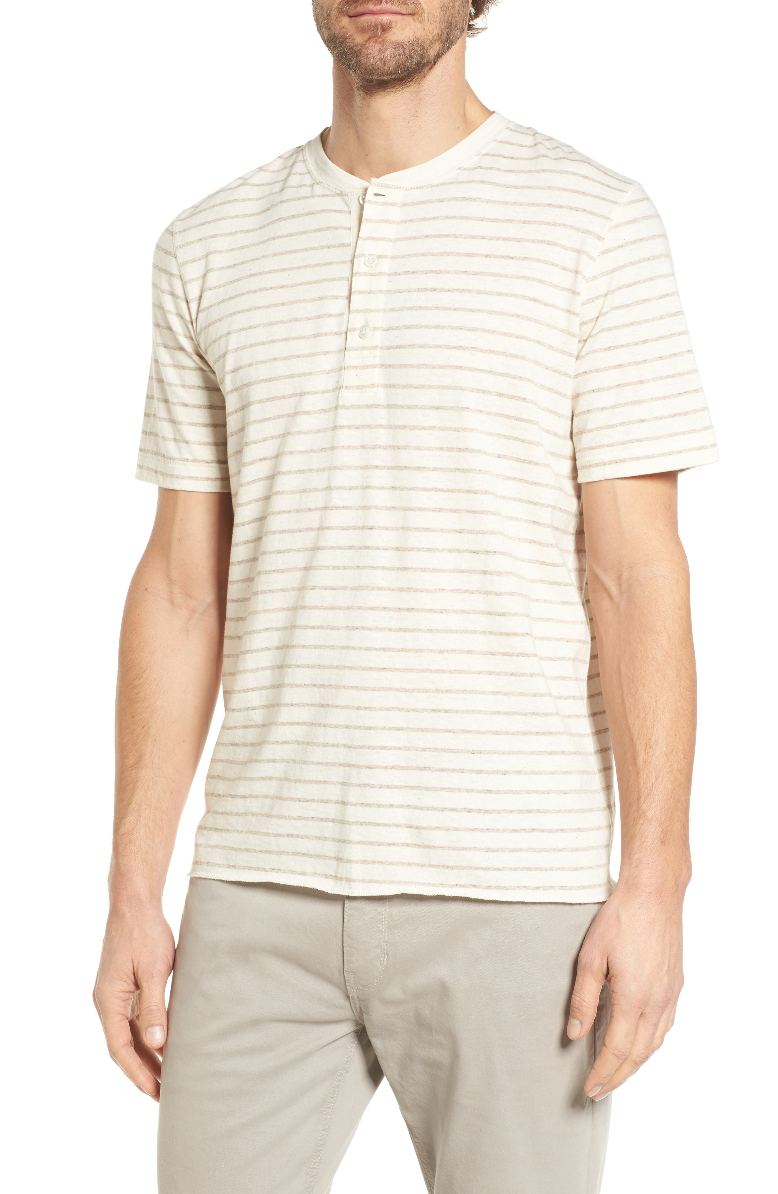 Slim Fit Henley,                         Main,                         color, Oatmeal
