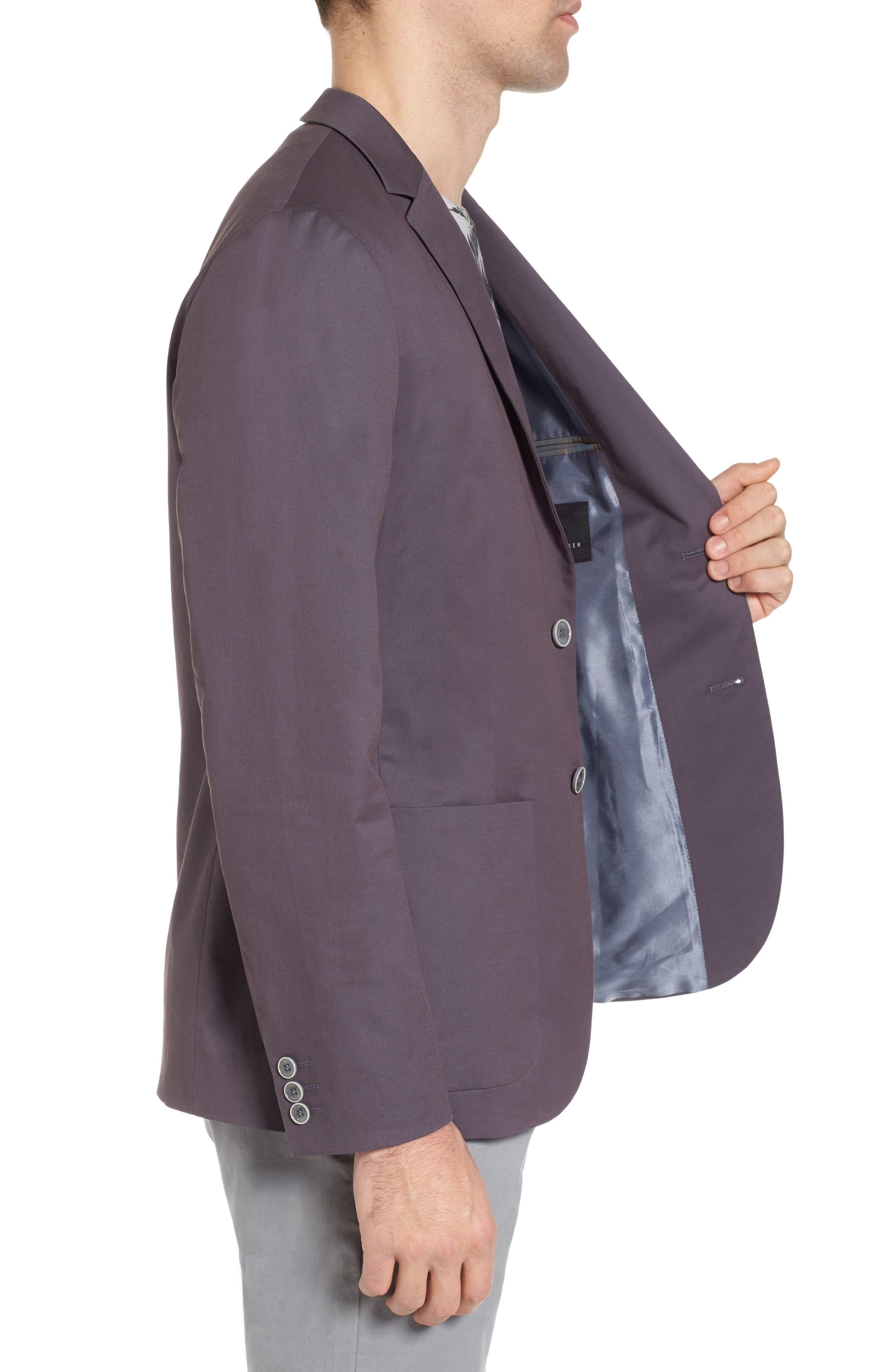 Cliford Trim Fit Stretch Cotton Blazer,                             Alternate thumbnail 3, color,                             Light Grey