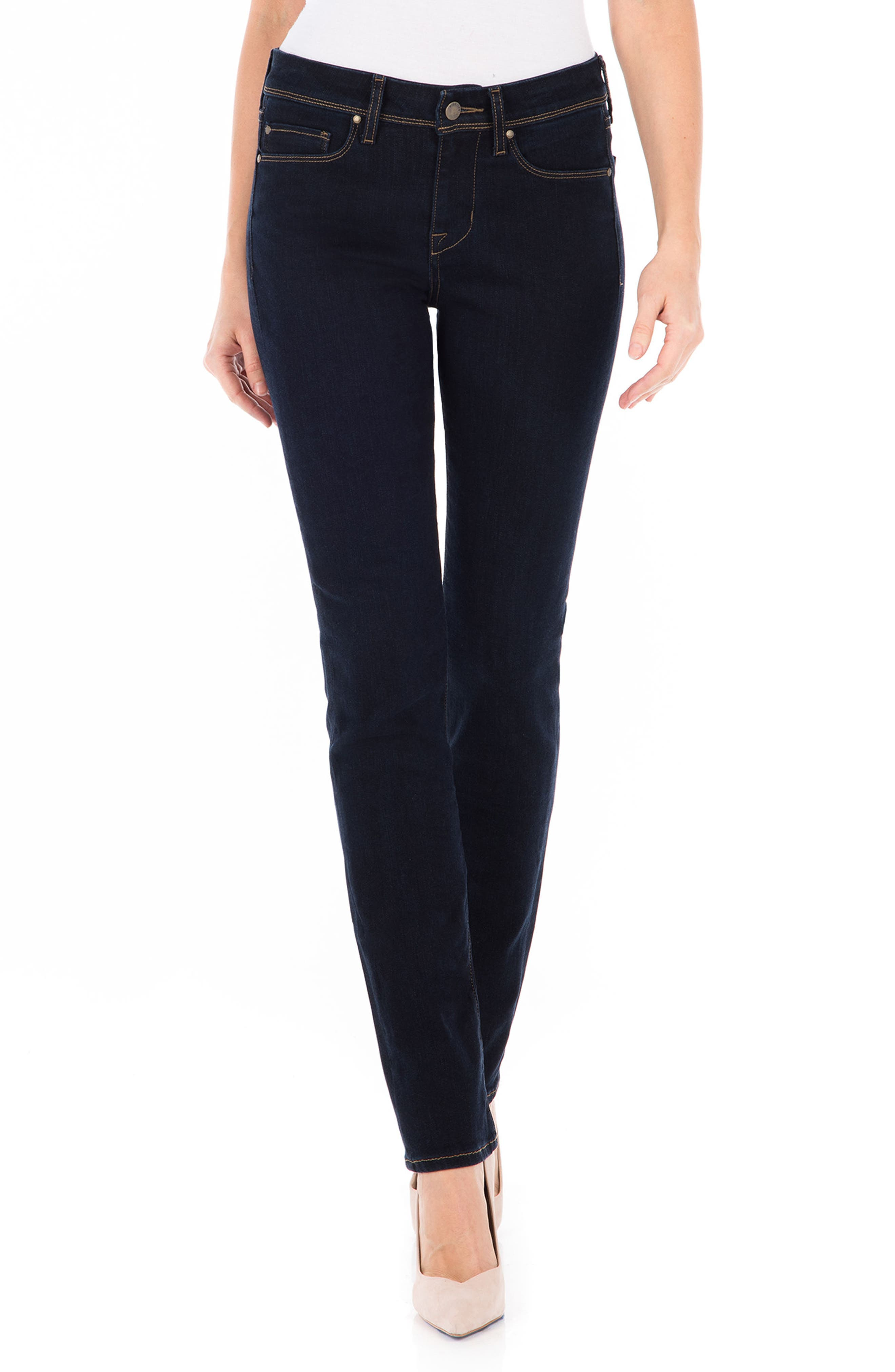 Stevie Straight Leg Jeans,                             Main thumbnail 1, color,                             Artic Blue