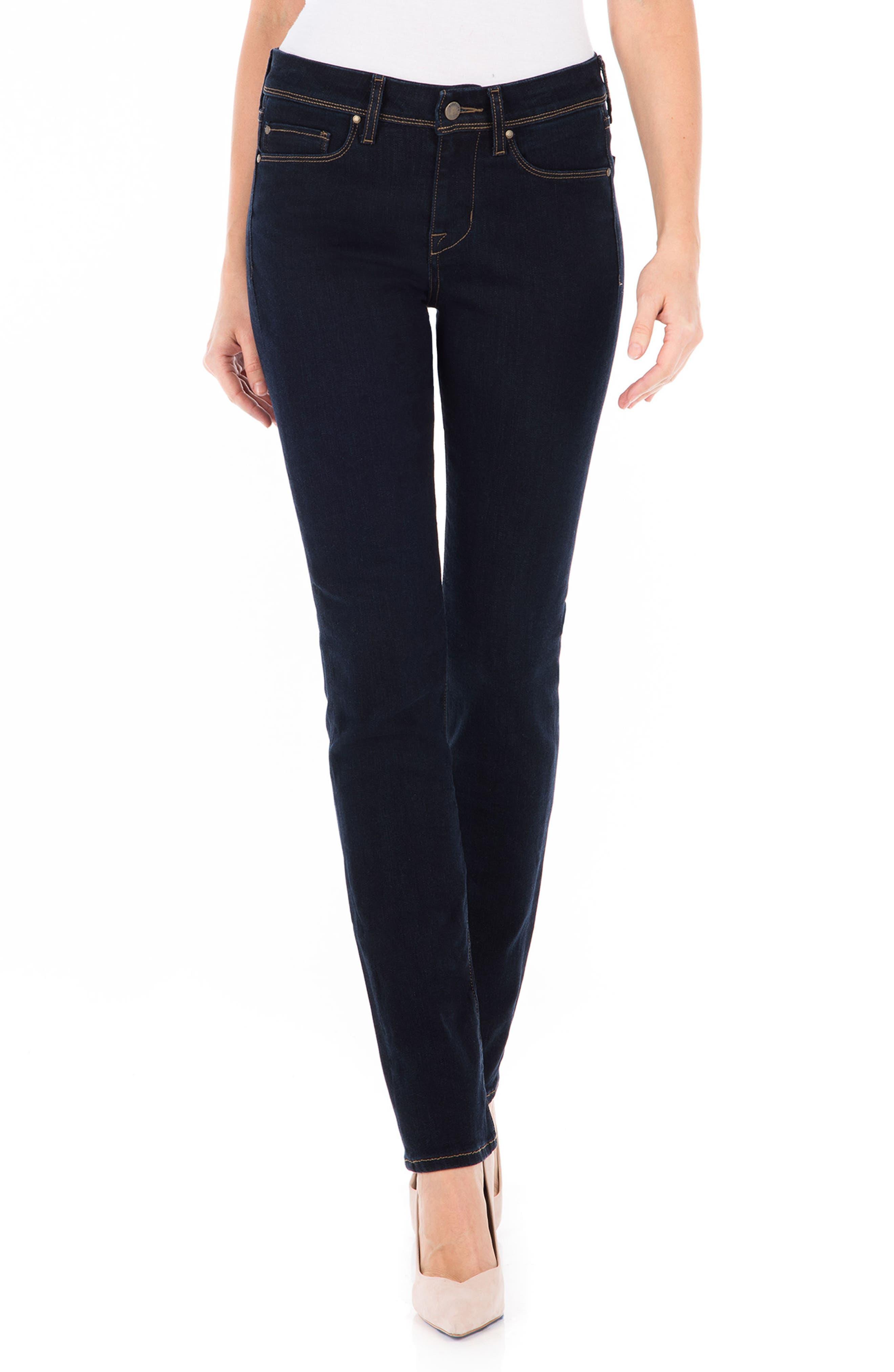 Fidelity Denim Stevie Straight Leg Jeans (Artic Blue)