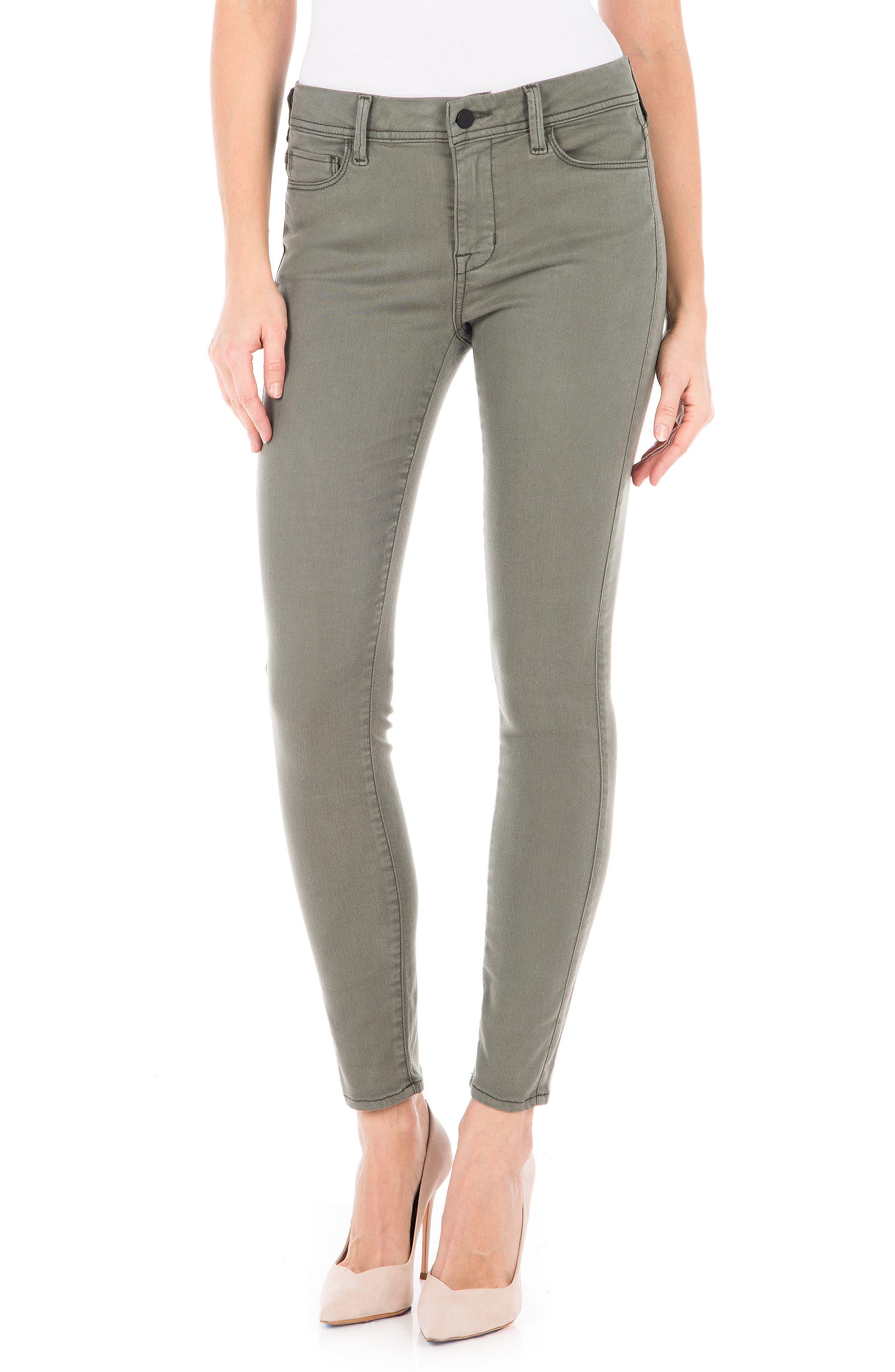 Main Image - Fidelity Denim Sola Skinny Jeans (Pistachio)
