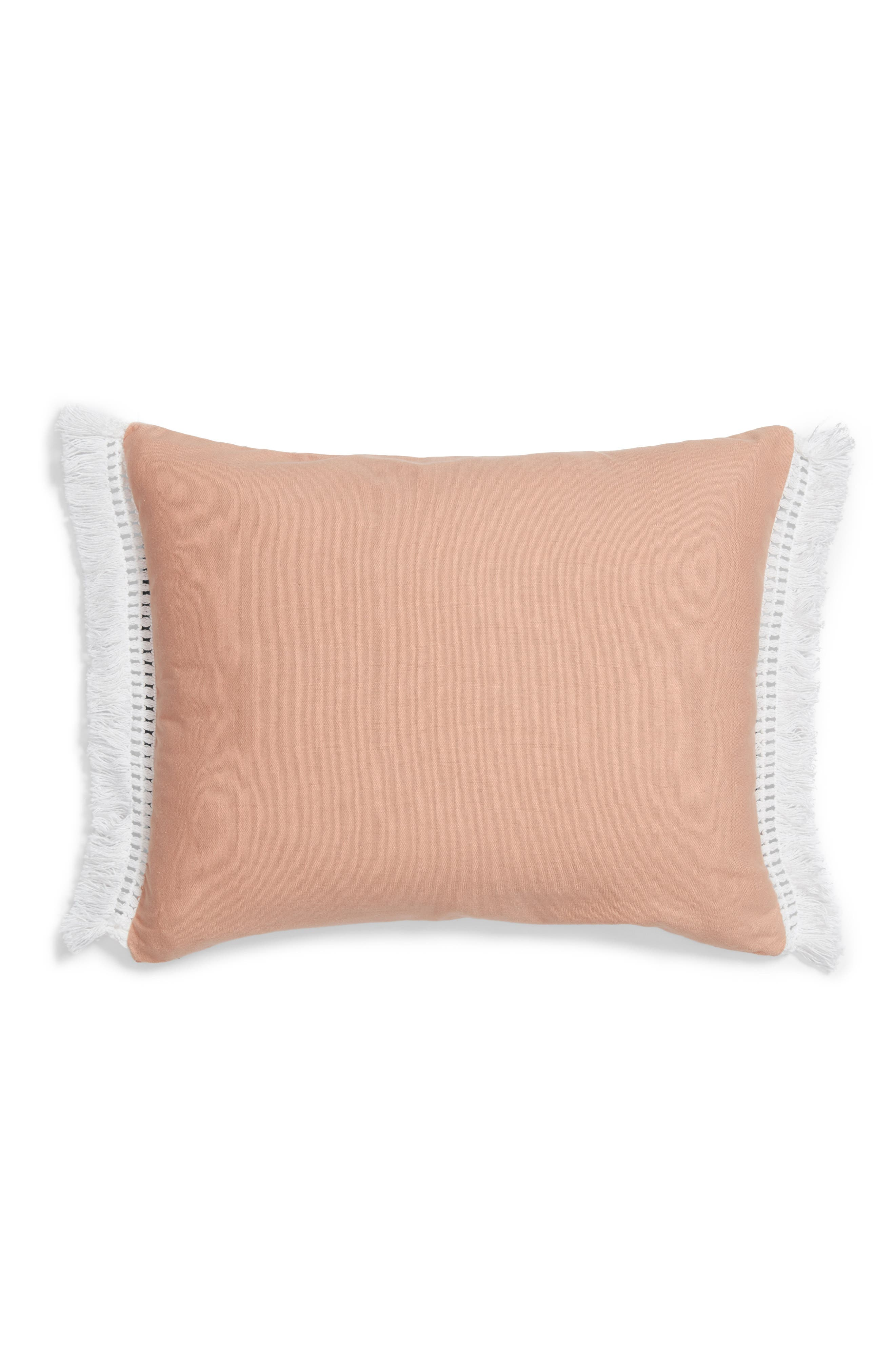 Bree Embroidered Accent Pillow,                             Alternate thumbnail 3, color,                             Blush