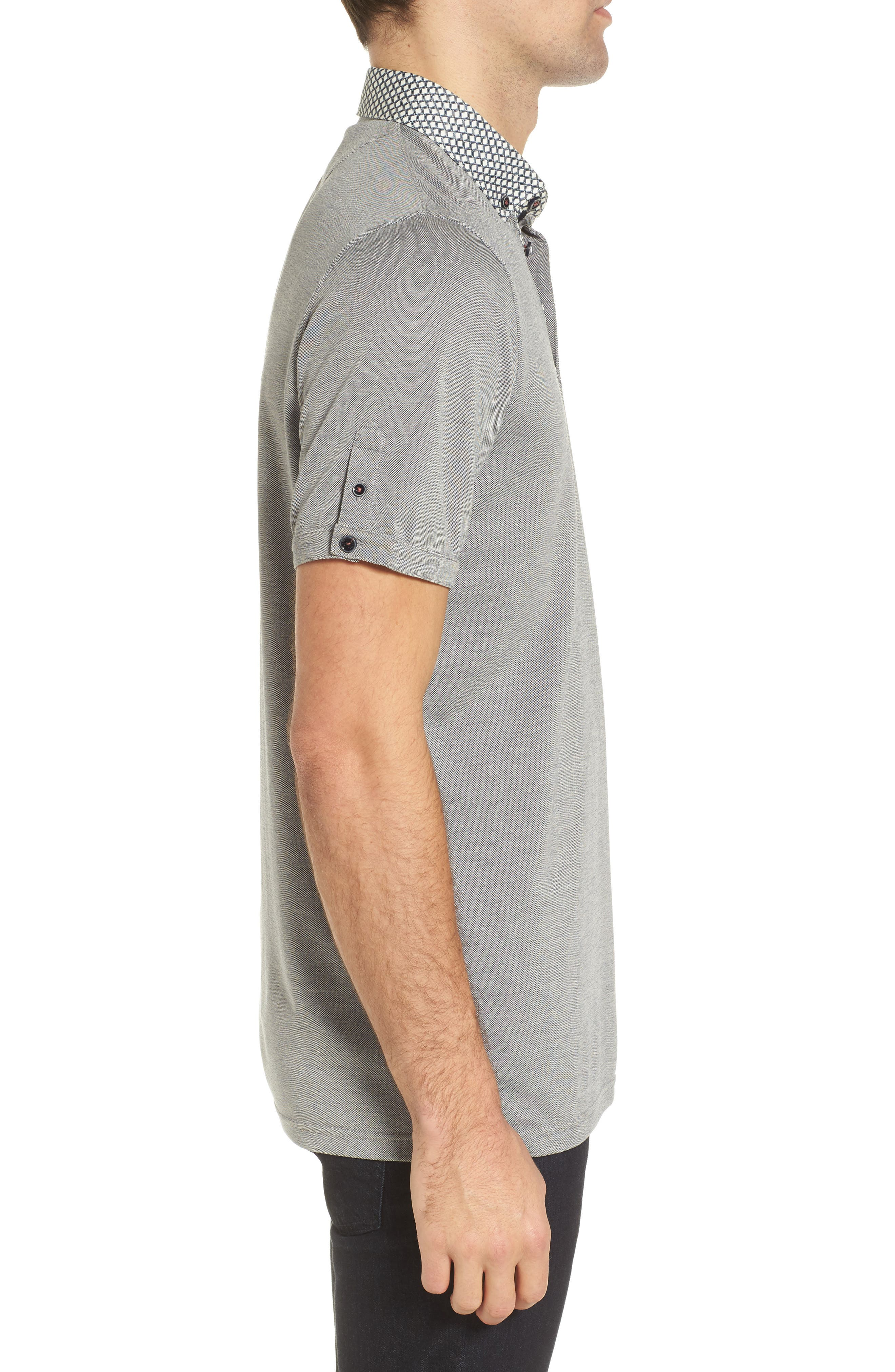 Tizu Trim Fit Polo Shirt,                             Alternate thumbnail 3, color,                             Navy