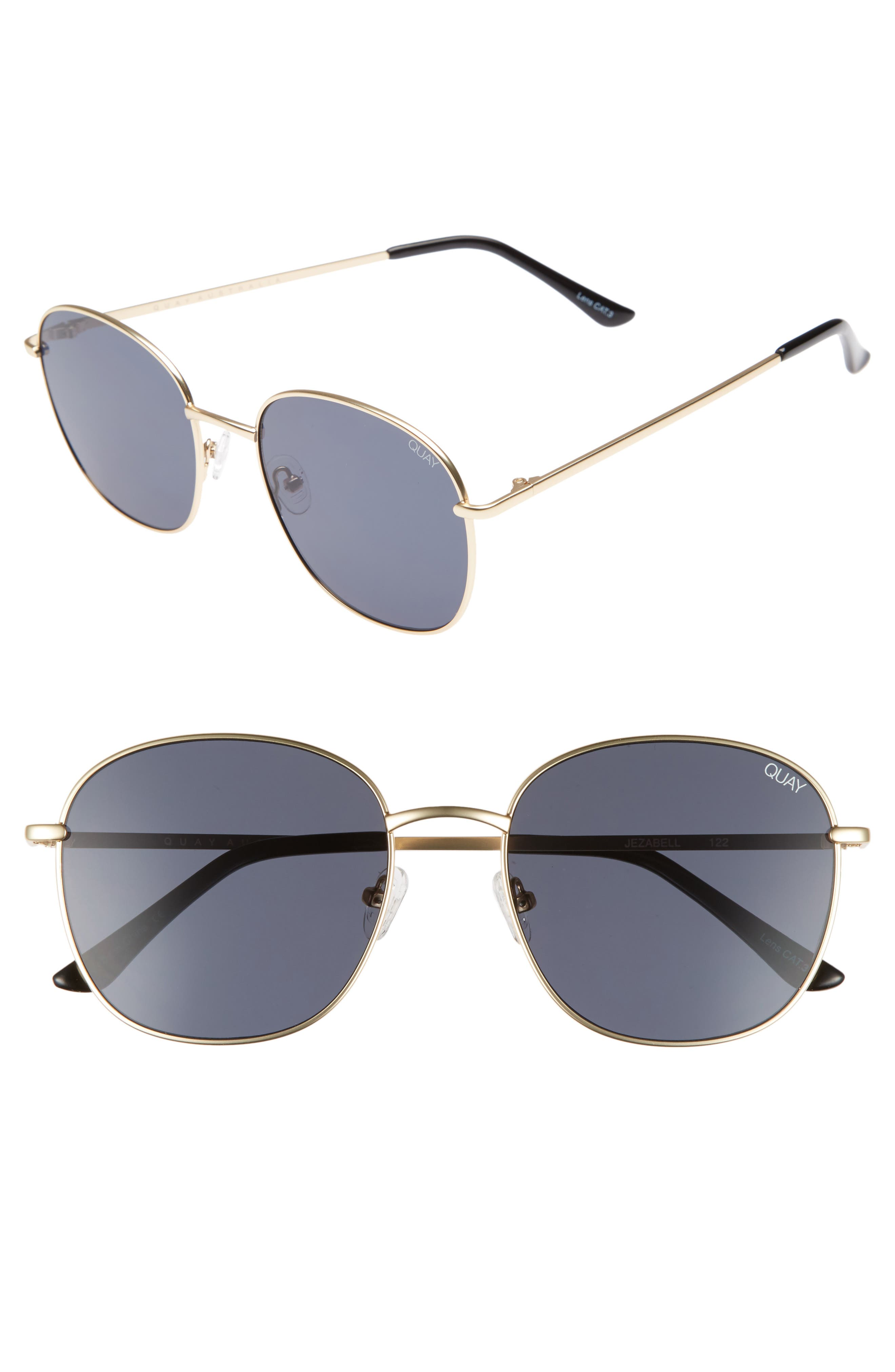 Main Image - Quay Australia Jezabell 57mm Round Sunglasses