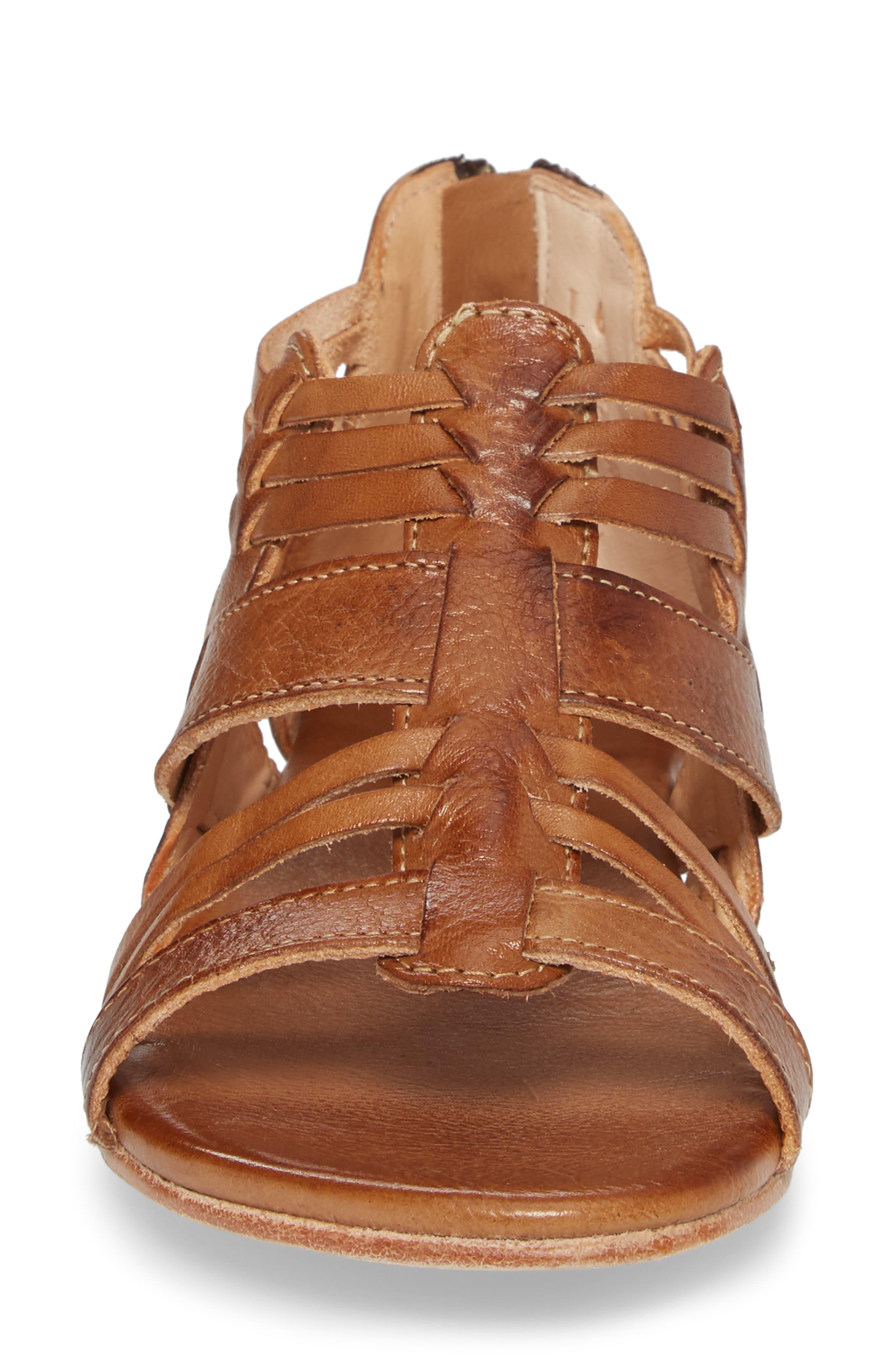 Cara Sandal,                             Alternate thumbnail 4, color,                             Tan Leather