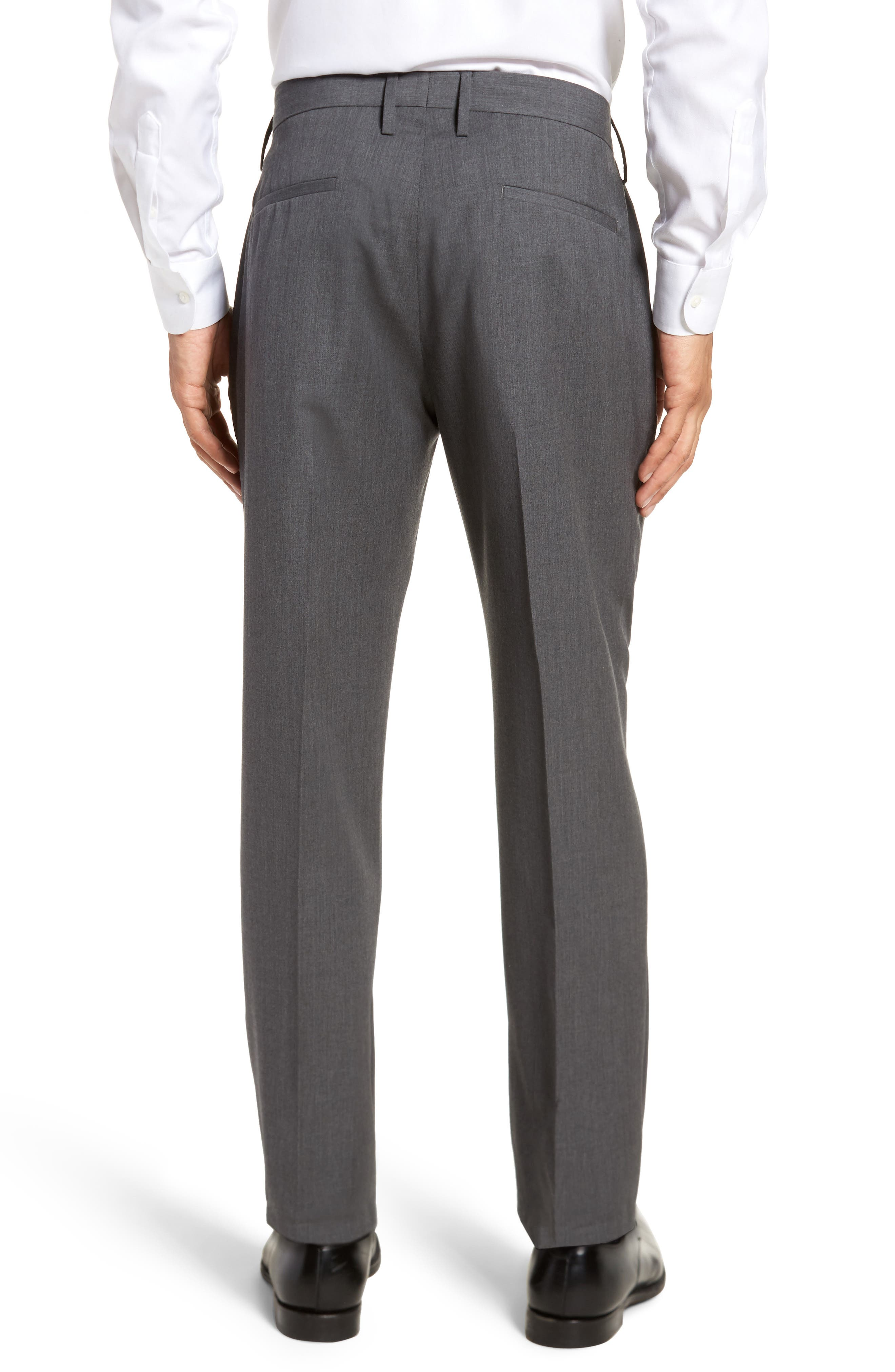 Slim Wool Trousers,                             Alternate thumbnail 2, color,                             Grey Magnet
