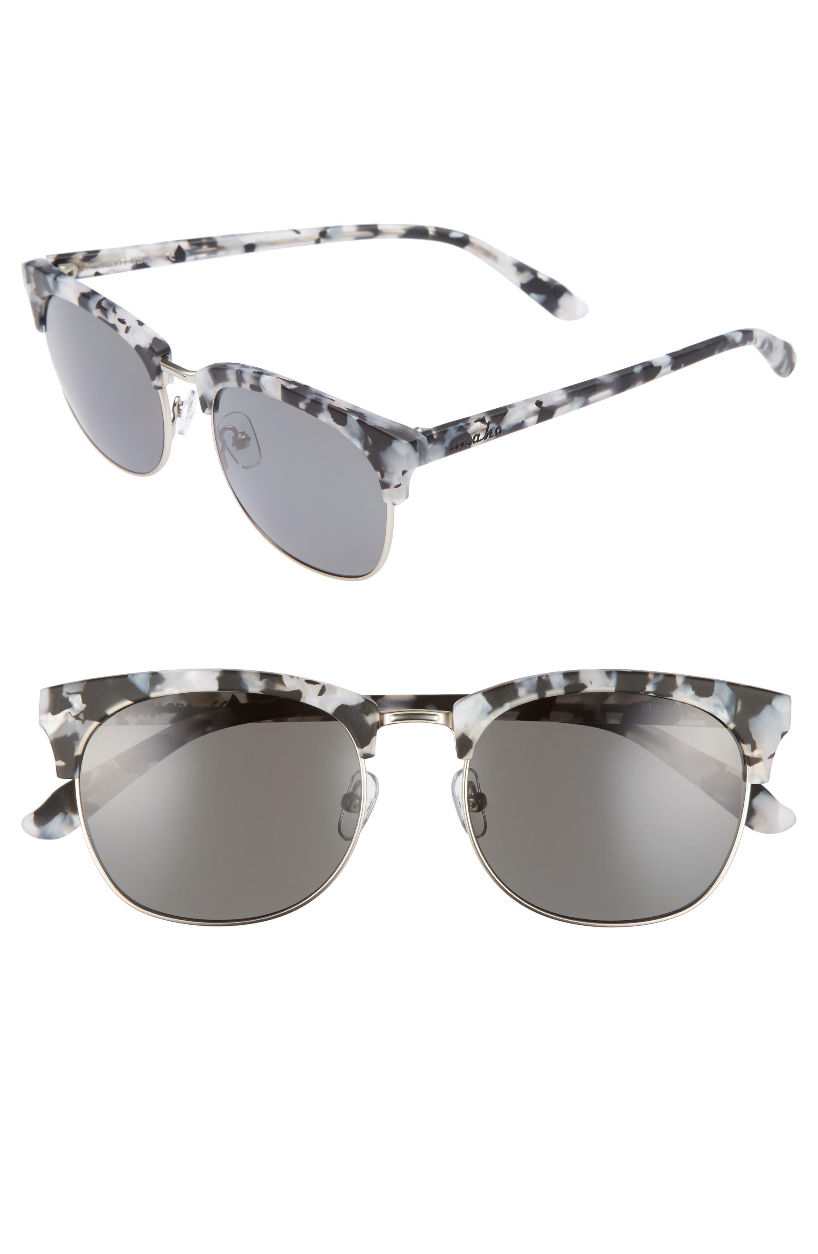 Mandalay 52mm Polarized Sunglasses,                         Main,                         color, Marble