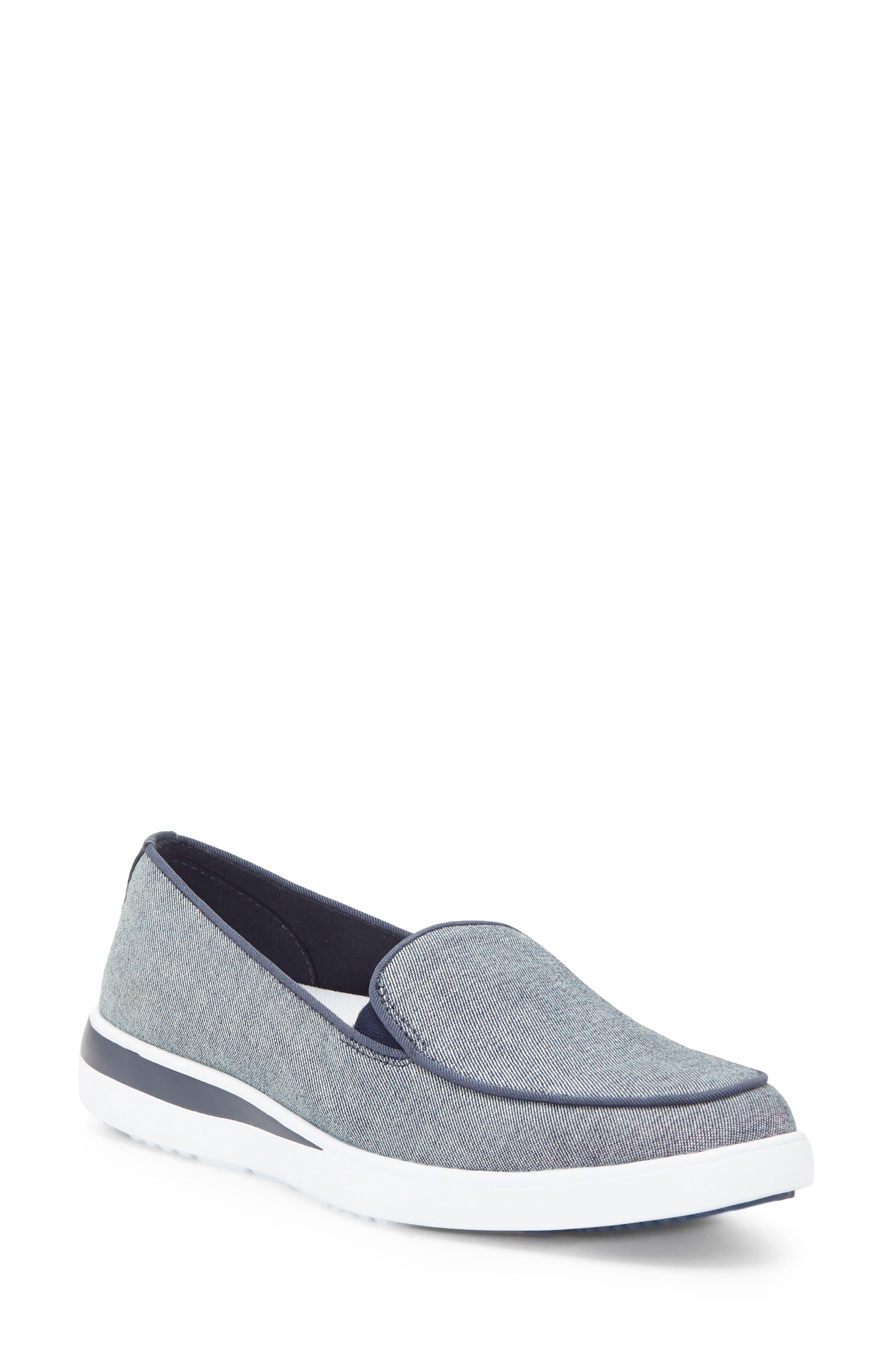 Antona Slip-On Sneaker,                             Main thumbnail 1, color,                             Blue Fabric